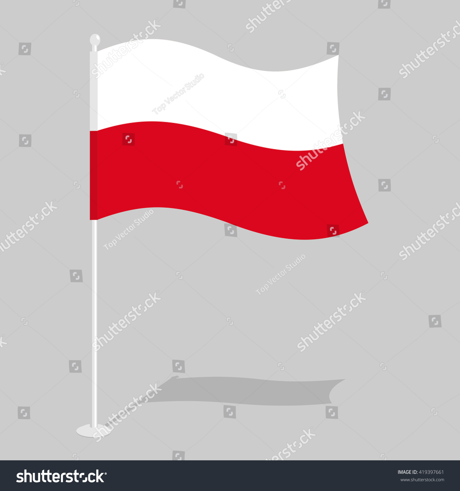 Poland flag official national symbol polish stock vector 419397661 poland flag official national symbol of polish republic traditional paced banner country in biocorpaavc