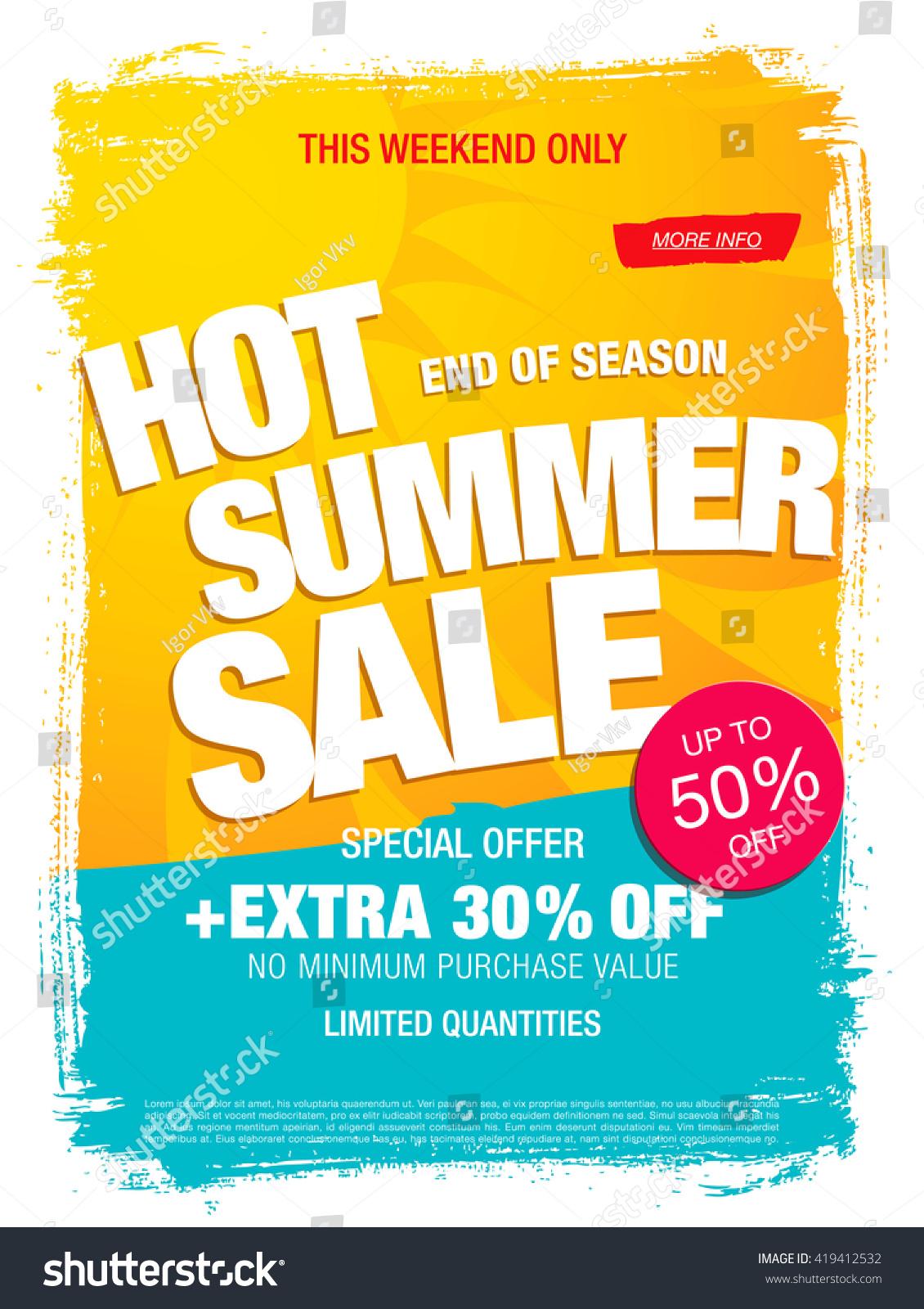 hot summer template banner stock vector shutterstock hot summer template banner