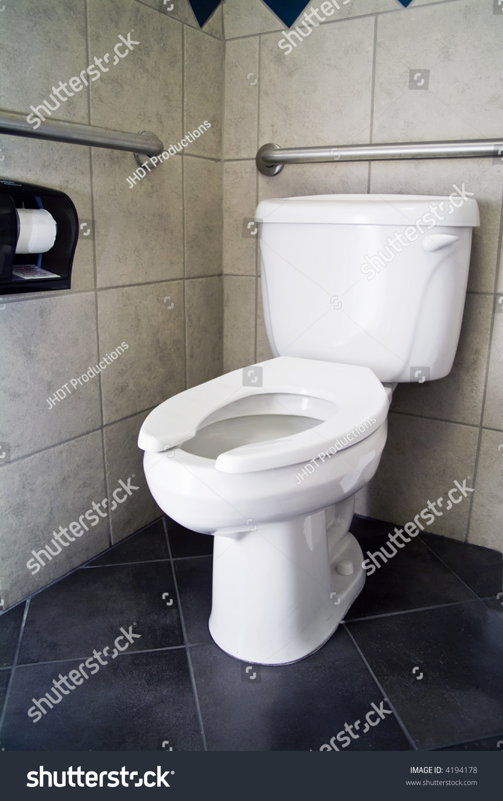 Picture Commode No Lid Handicap Accommodations Stock Photo 4194178 ...