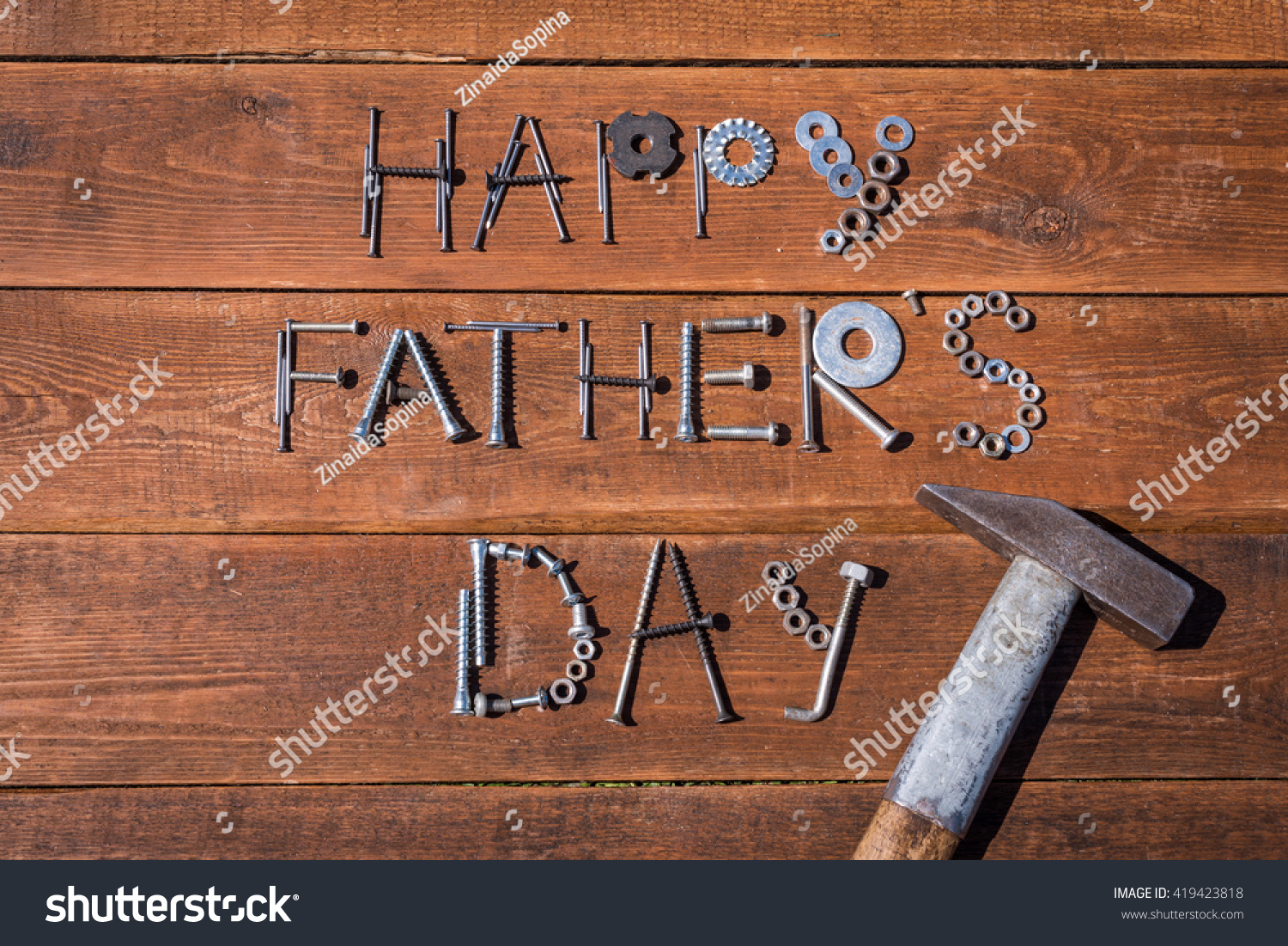 Happy Fathers Day Greeting Card Made Stock Photo (Royalty Free ...