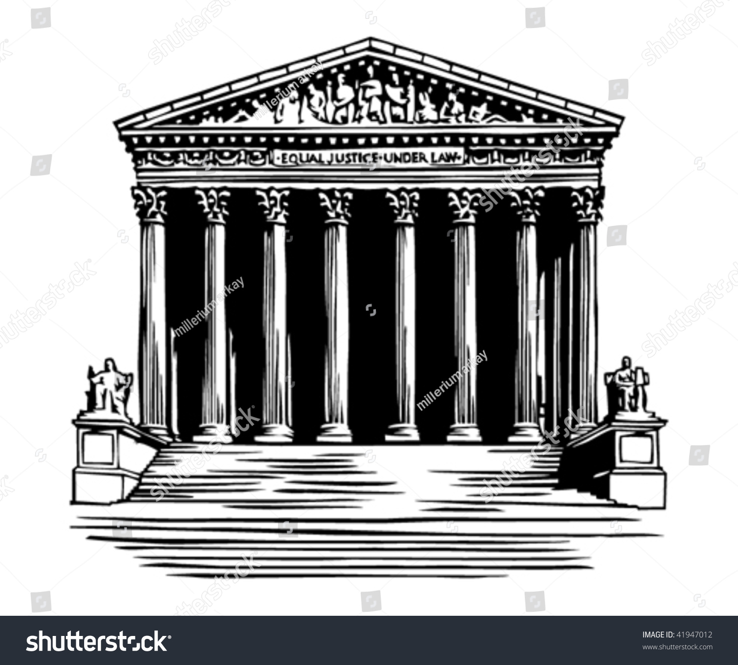 Stock Vector Supreme Court Building In Washington Dc on Government Judicial Branch Building