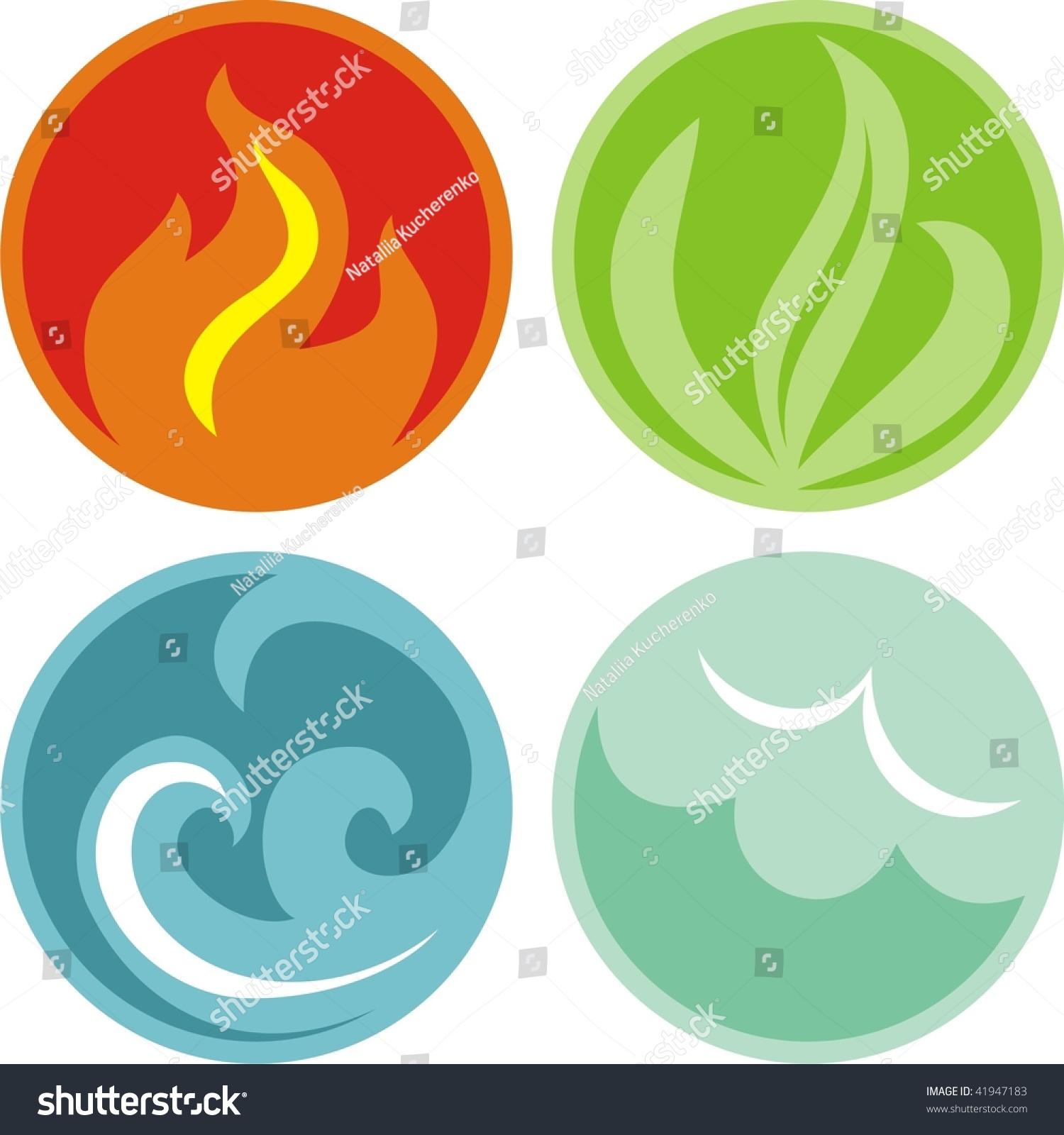 Natural Elements Stock Vector Illustration 41947183