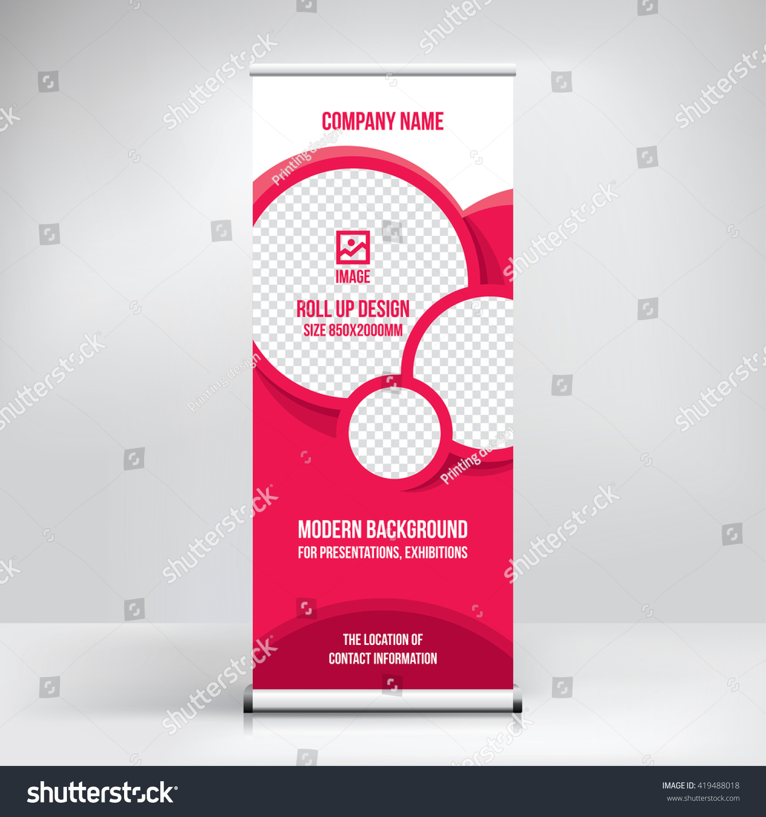 Célèbre Banner Rollup Design Business Concept Graphic Stock Vector  LJ69