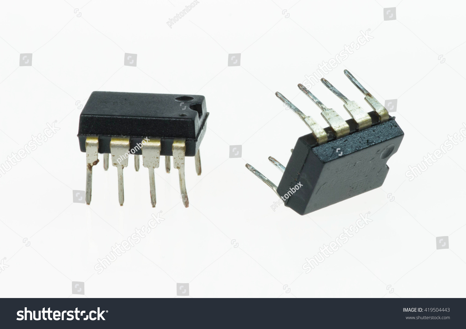 Operational Amplifiers Isolated On White Stock Photo Edit Now The Amplifier Electronics