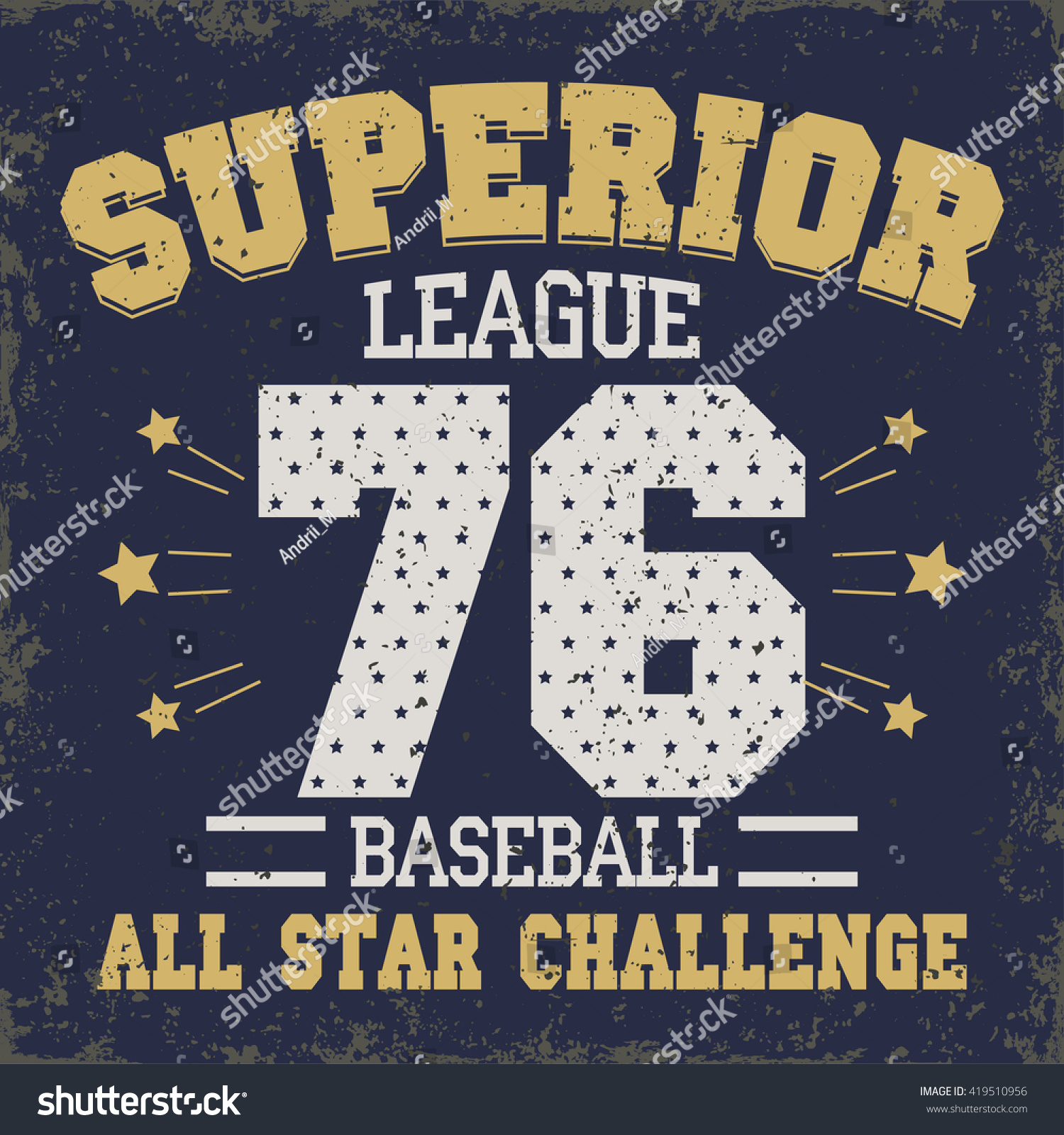 Design t shirt baseball - Baseball T Shirt Graphic Design All Stars Championship Typography Emblem Sport Wear Tshirt Stamp