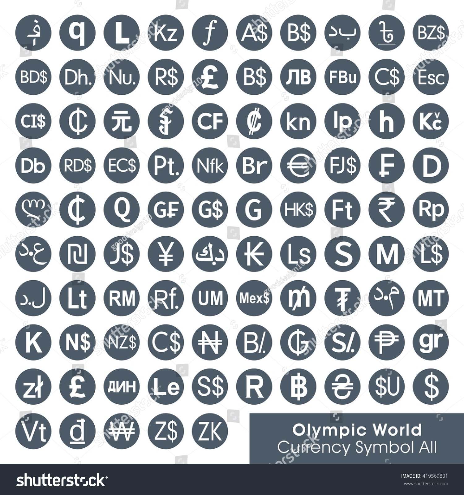 Symbols For Currency Selol Ink