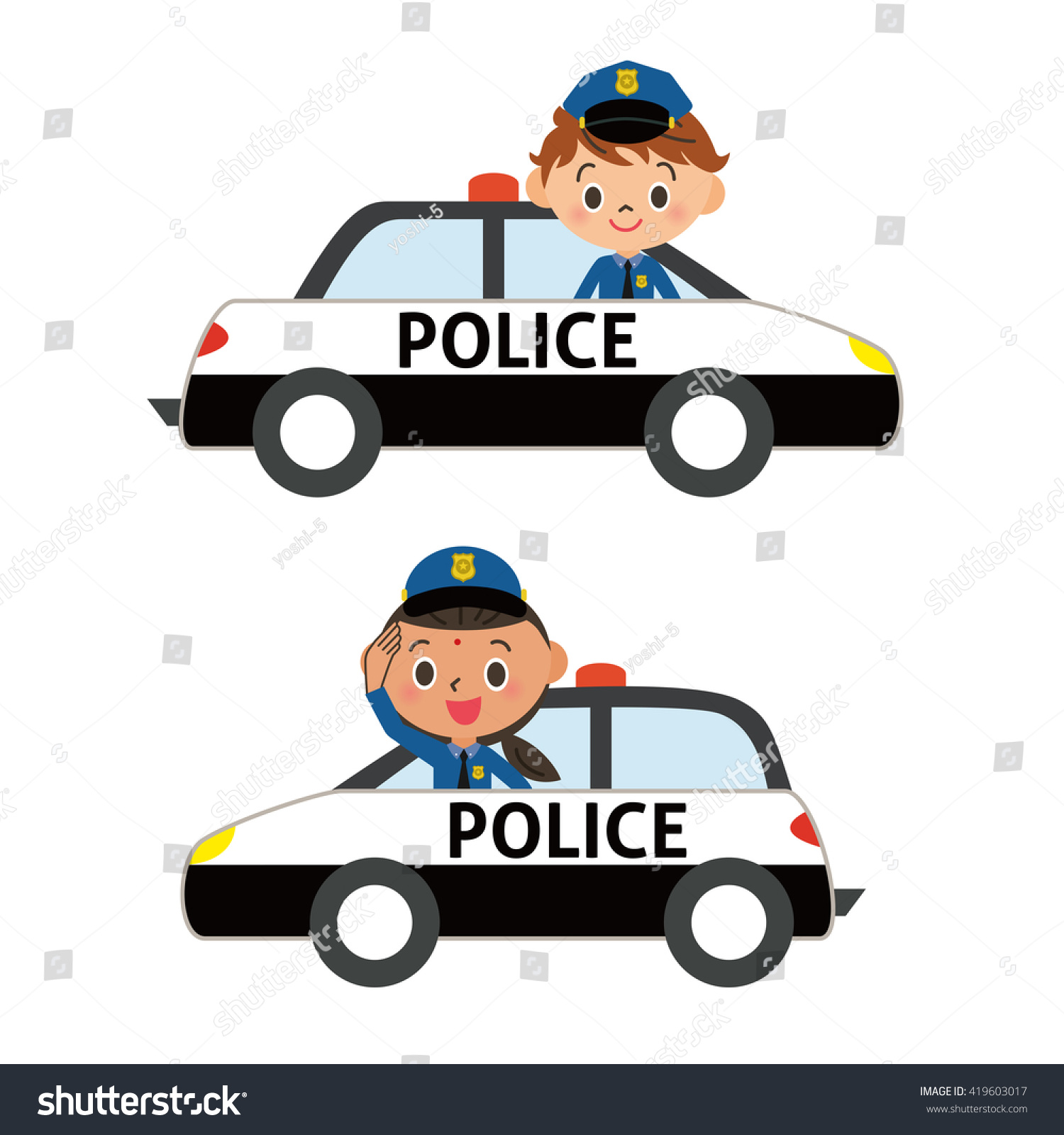 Police Officer Car Clipart | www.pixshark.com - Images ...