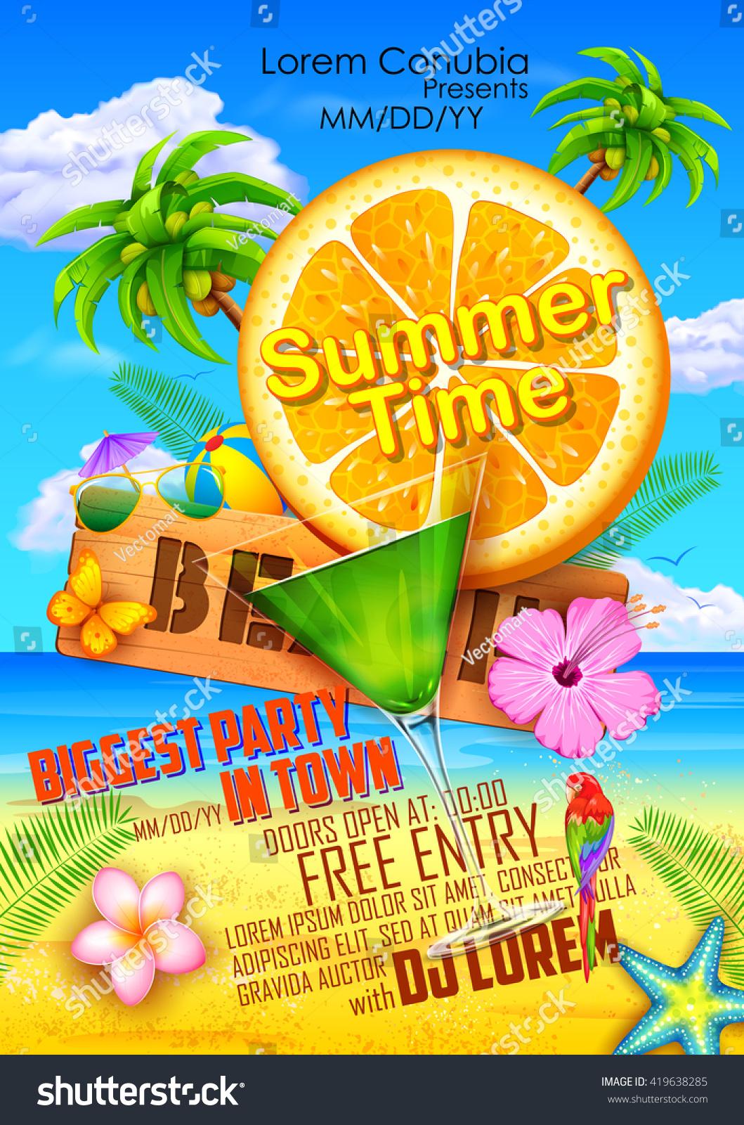 D d poster design - Illustration Of Summer Festival Poster Design