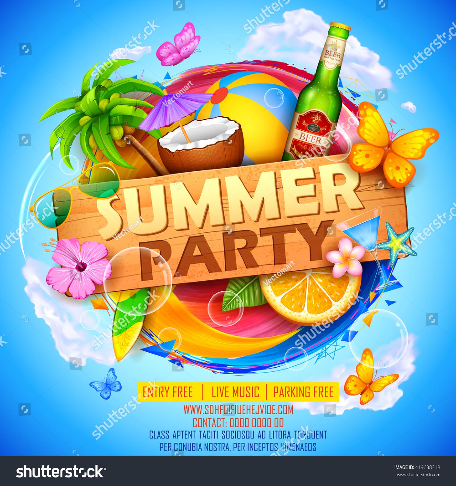 Poster design illustrator - Illustration Of Summer Party Poster Design