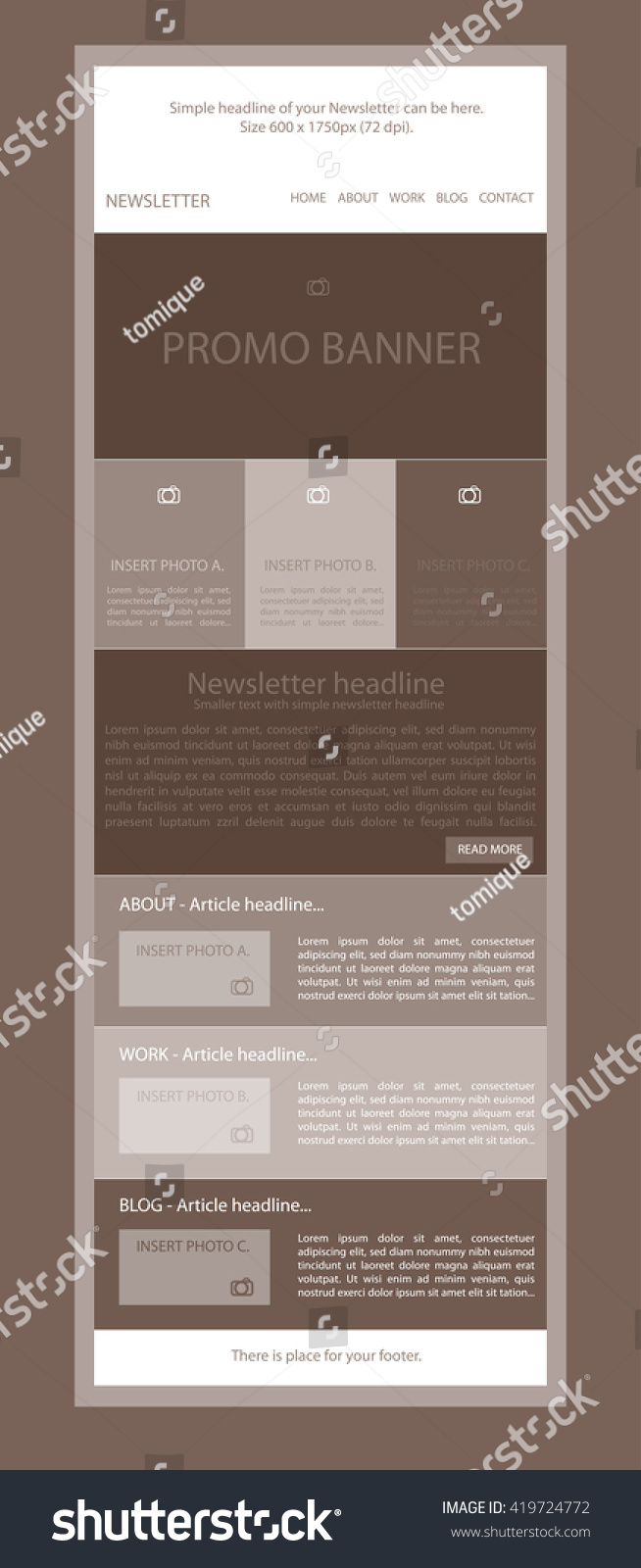 responsive web layout template for business or non profit