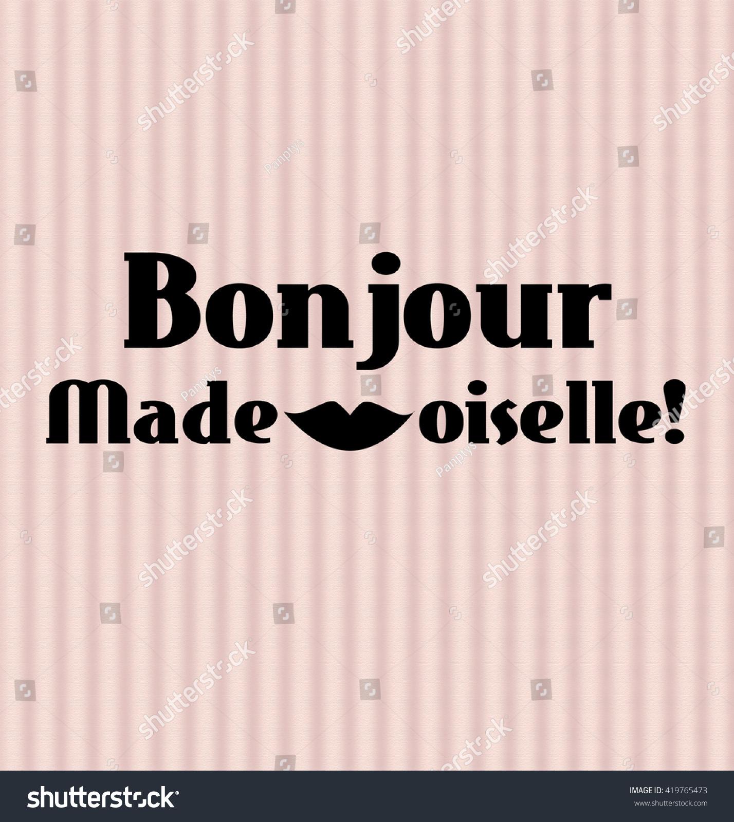 Good Morning Gentlemen In French : Inspirational good morning poster french elegant stock
