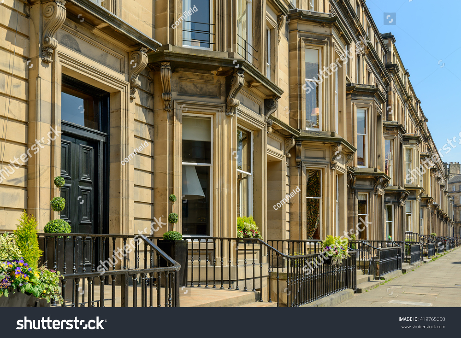 Prime Residential Property Drumsheugh Gardens West Stock Photo (Edit ...