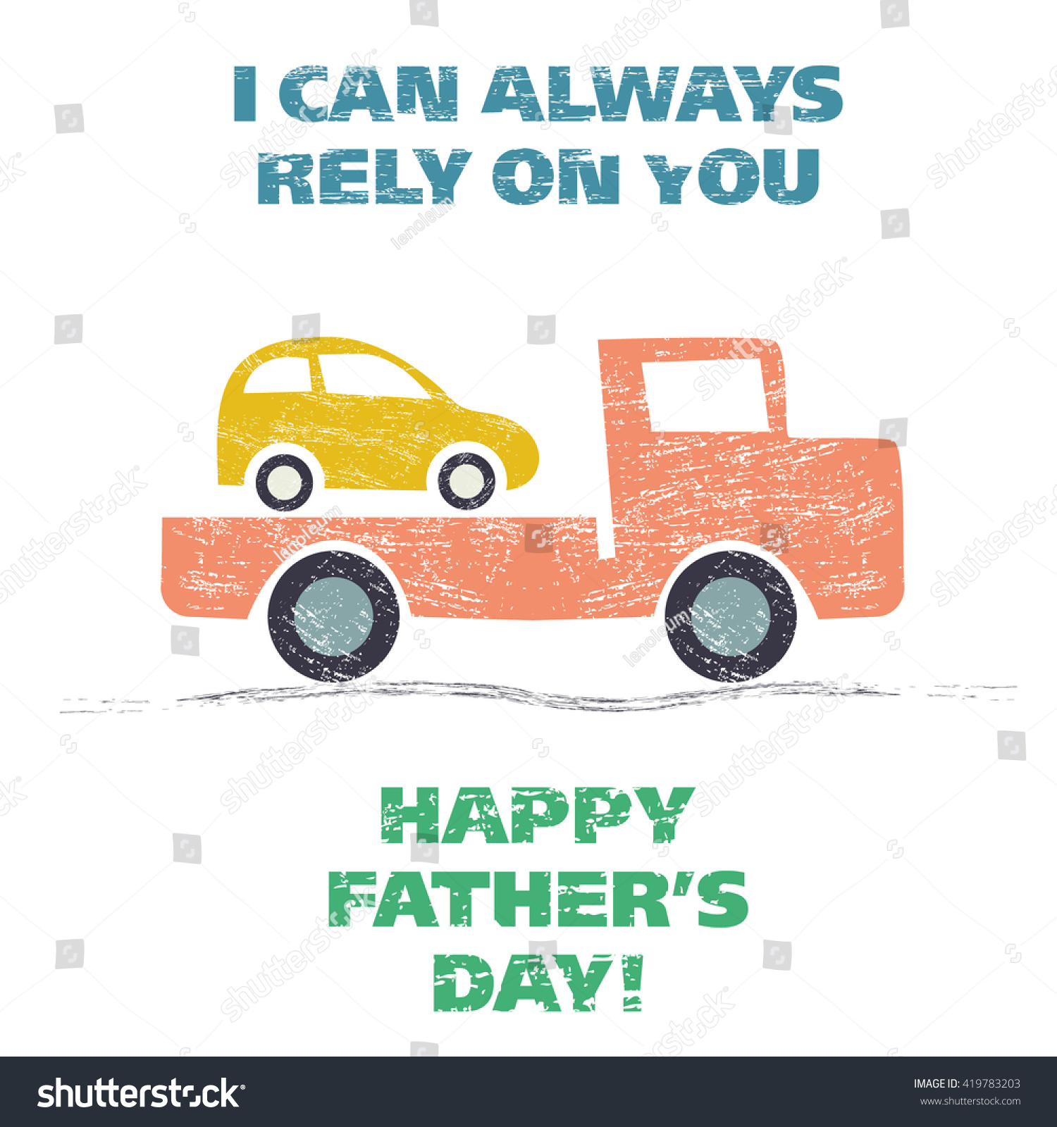 Happy Fathers Day Grunge Vector Illustration Stock Vector Royalty Free 419783203