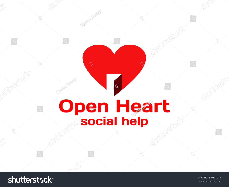 Logo heartheart door logoopen heart logo stock vector 419801041 logo heartheart door logoopen heart logo symbol buycottarizona Gallery