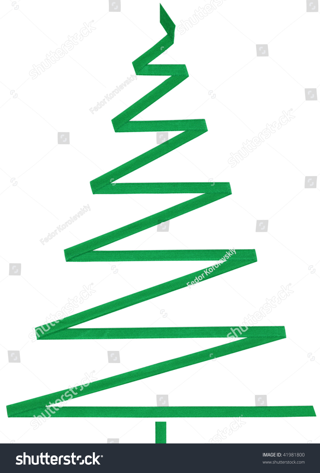 Symbol green christmas furtree band stock photo 41981800 symbol of a green christmas fur tree from a band biocorpaavc Image collections