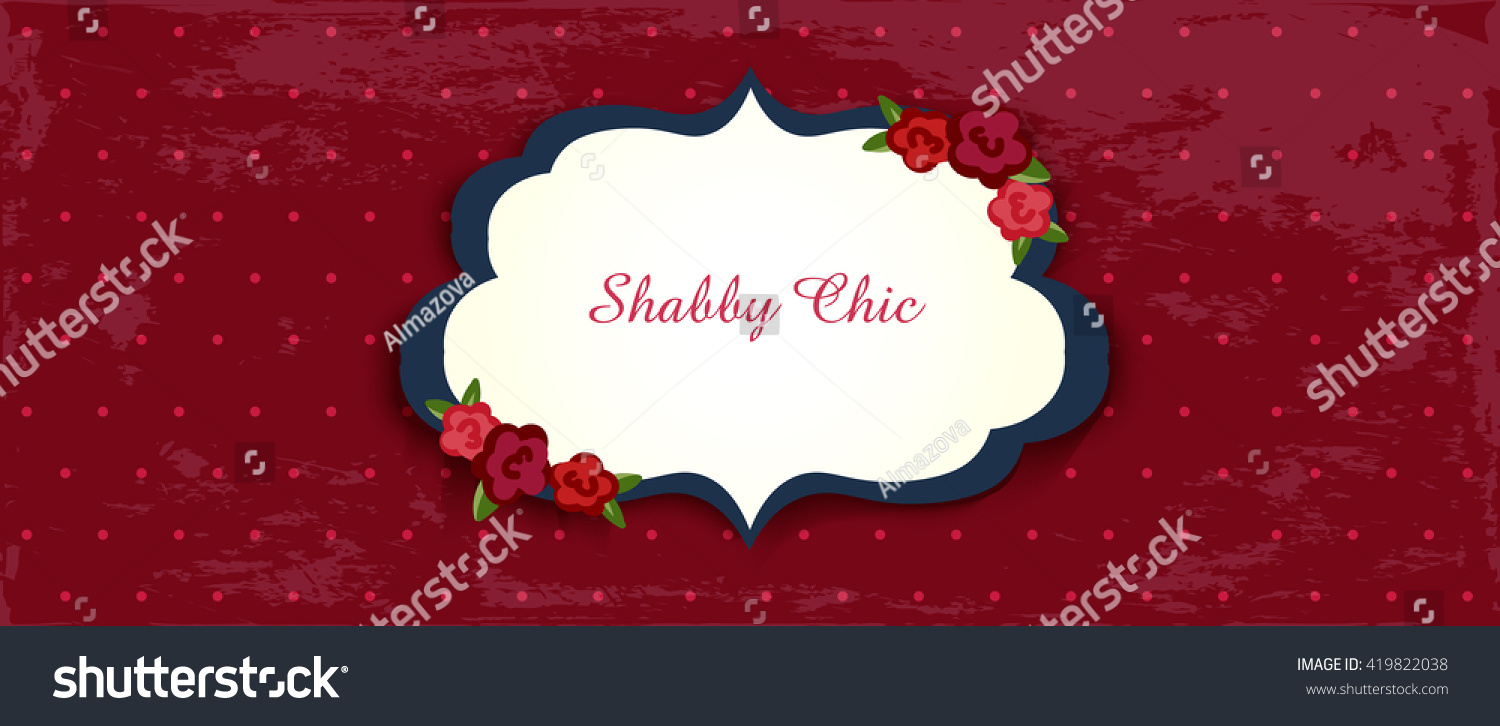 Shabby Chic Congratulations Card Template Wedding Stock Vector (2018 ...