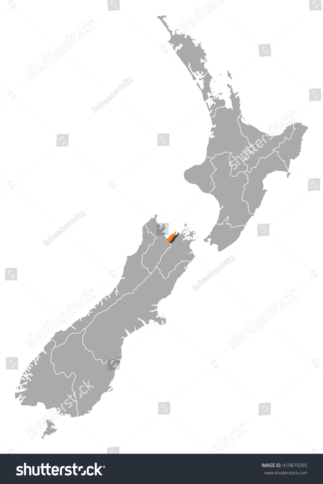 Map Nelson New Zealand.Map New Zealand Nelson Stock Vector Royalty Free 419879395