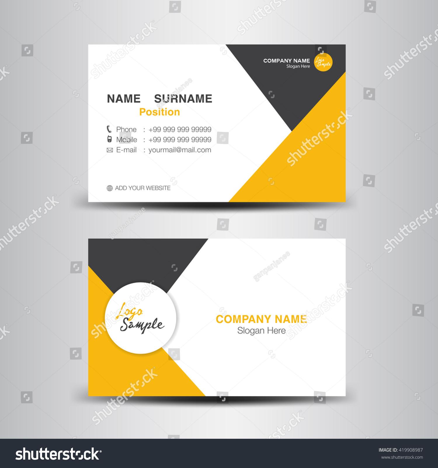 Business Card Vector Backgroundflyer Designpolygon Backgroundname ...