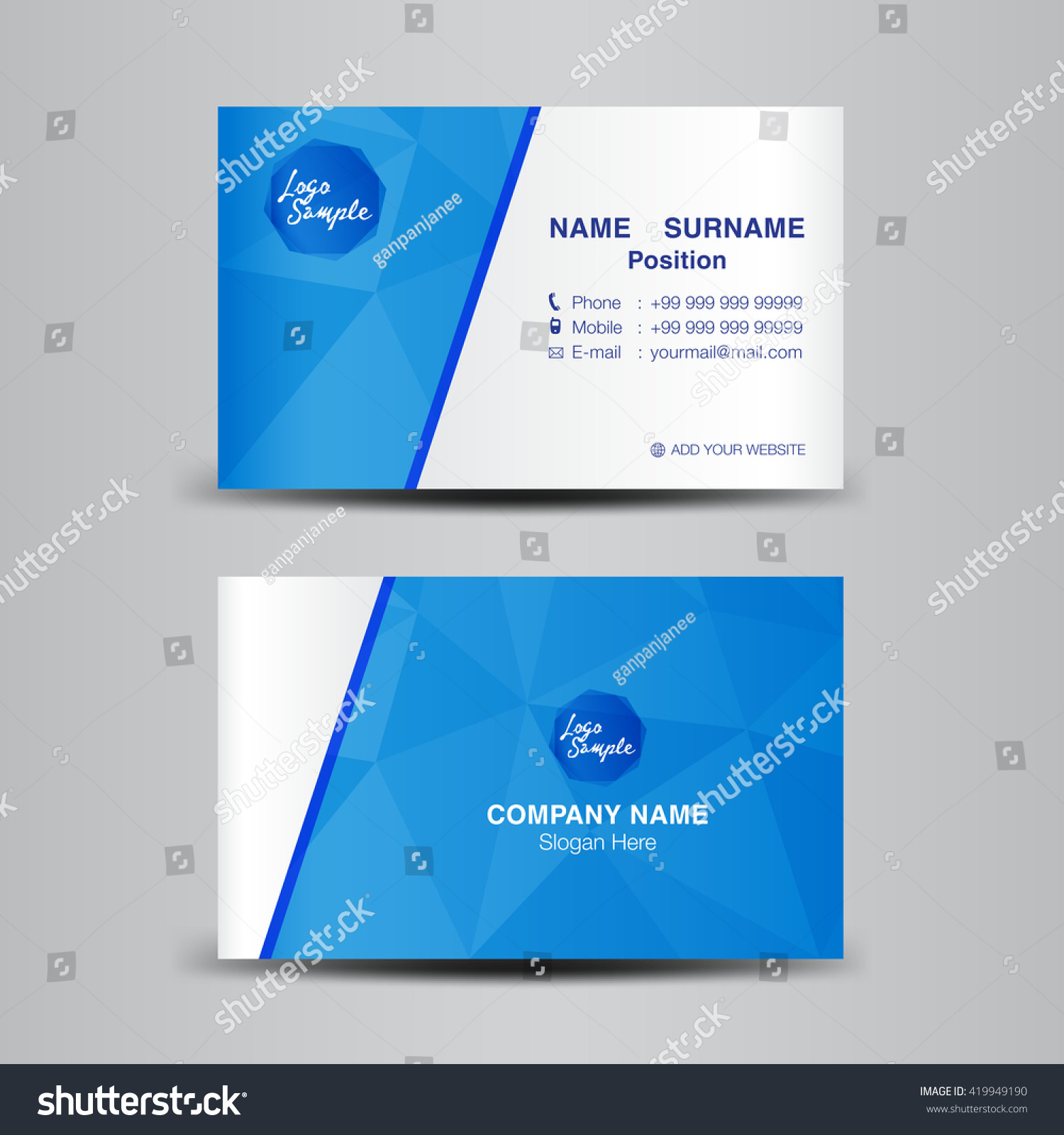 Royalty free Minimal Corporate Business card vector…