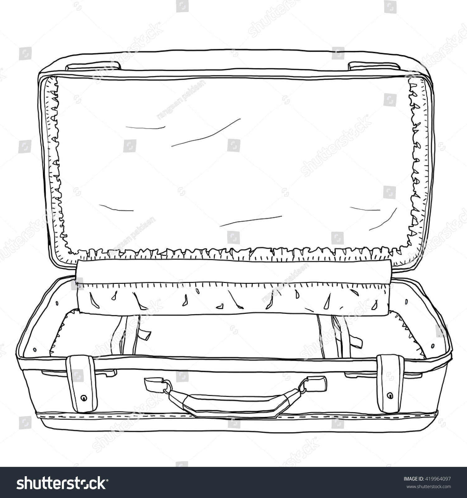 Vintage luggage suitcases open empty cute stock illustration vintage luggage suitcases open is the an empty cute illustration pronofoot35fo Images