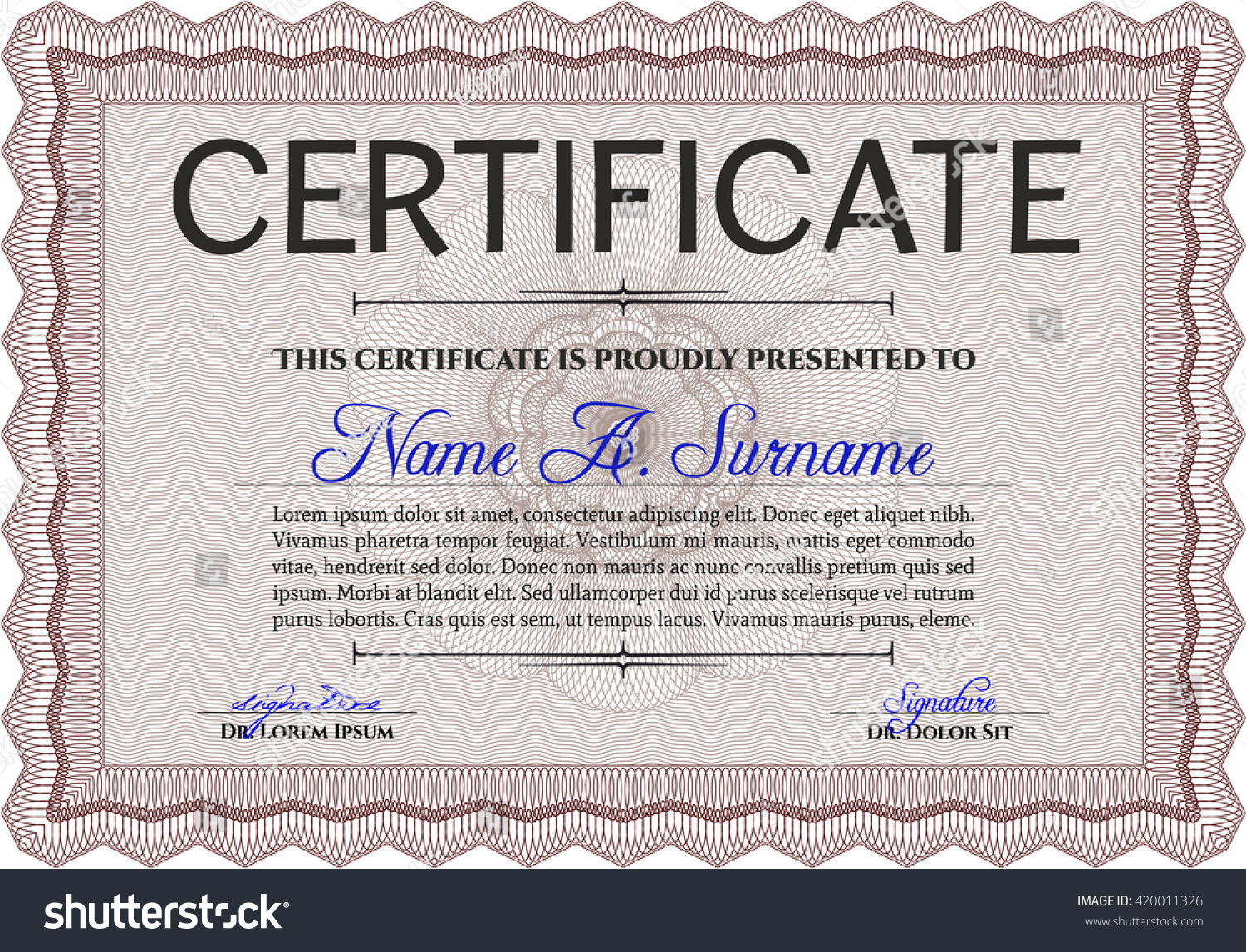 Red Certificate Template Detailed Printer Friendly Nice Design