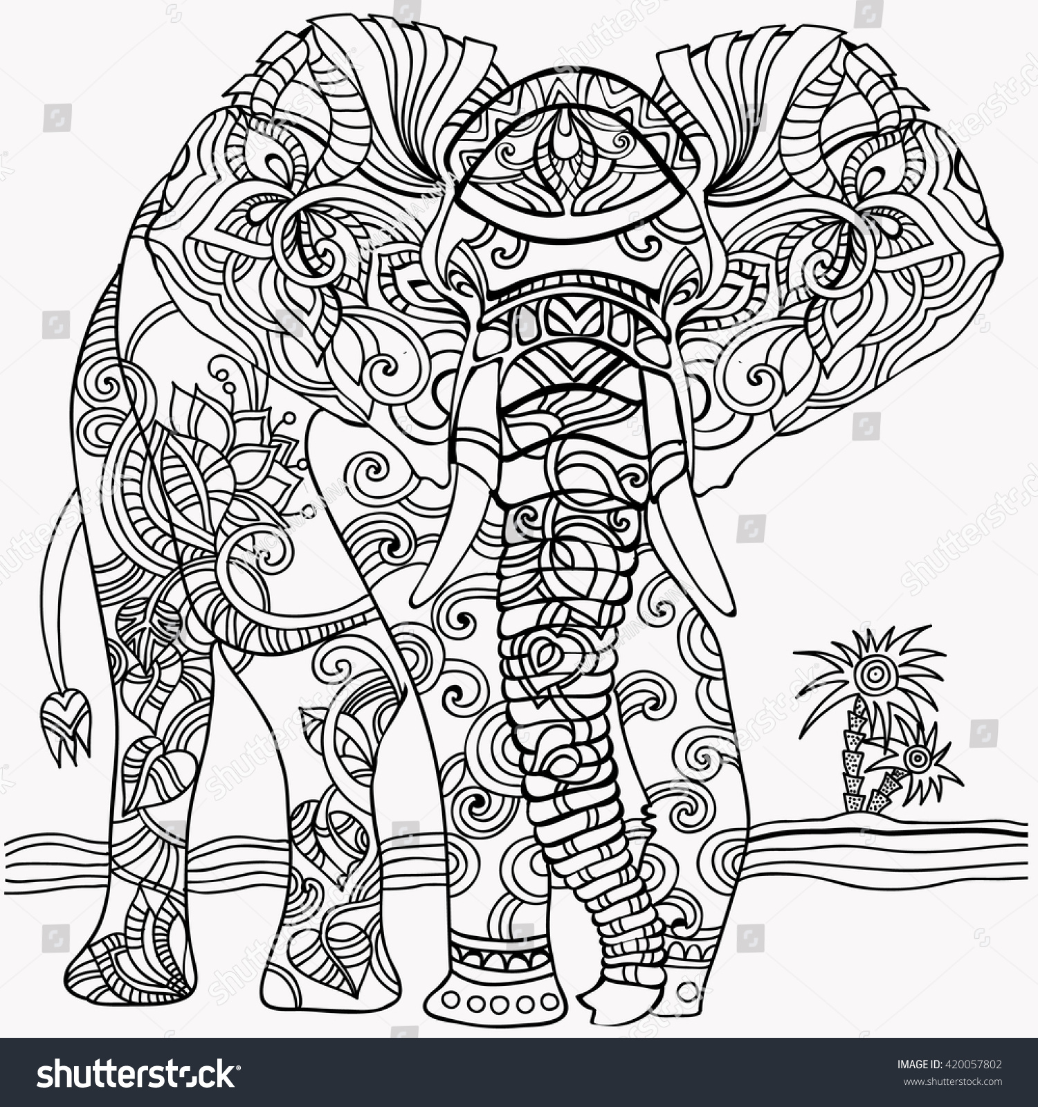 Coloring pictures elephant - Coloring Pages Elephant