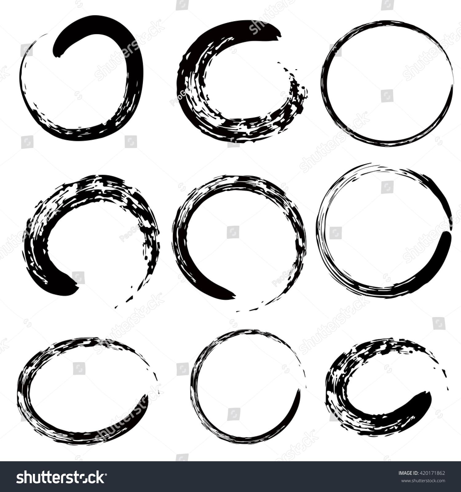 Circle Zen Buddhism Chinese Japanese Symbol Stock Vector Royalty