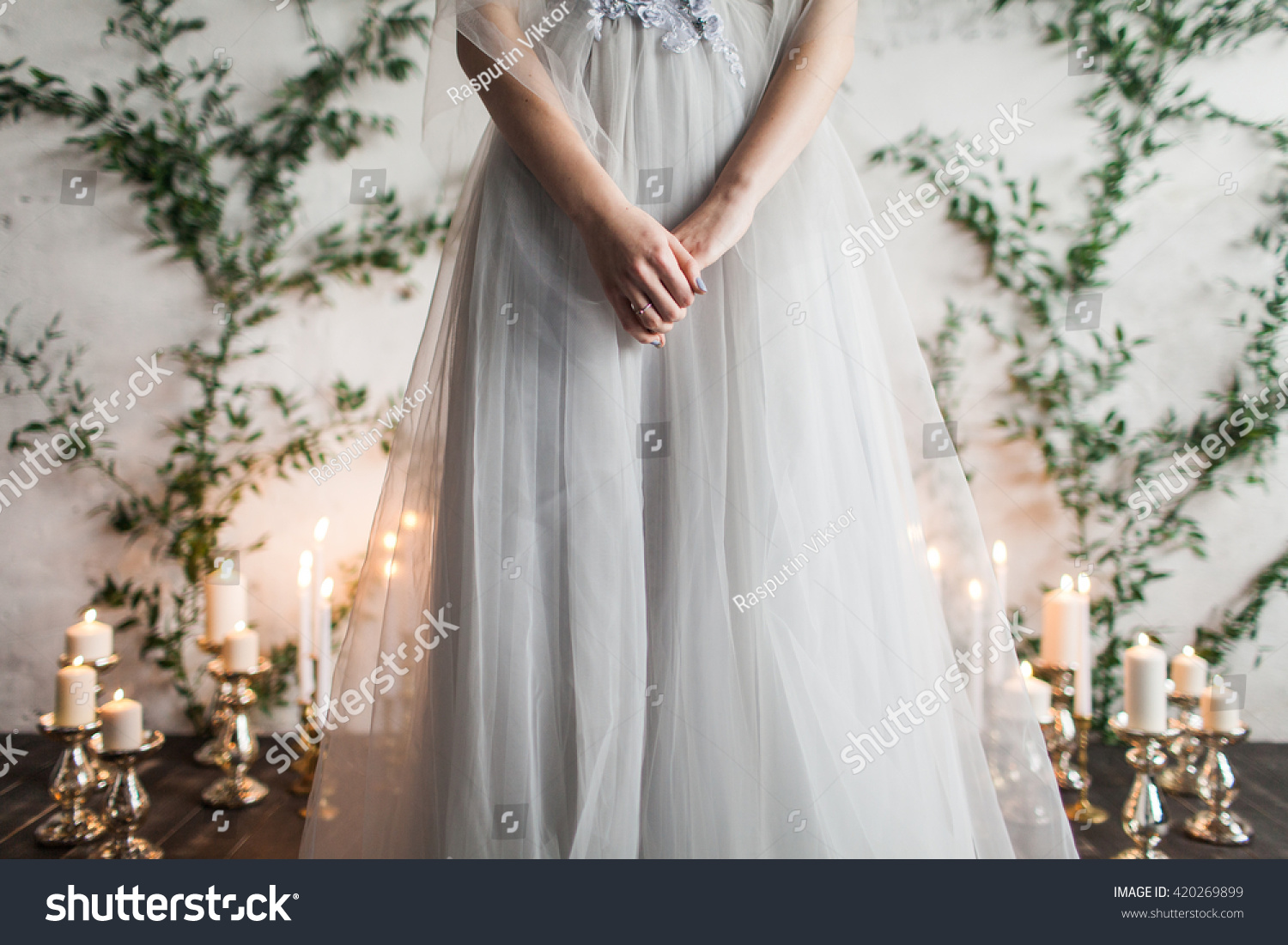 Wedding decor bride engagement girl wedding stock photo 420269899 decor bride engagement girl in a wedding dress crossed hands with amipublicfo Gallery
