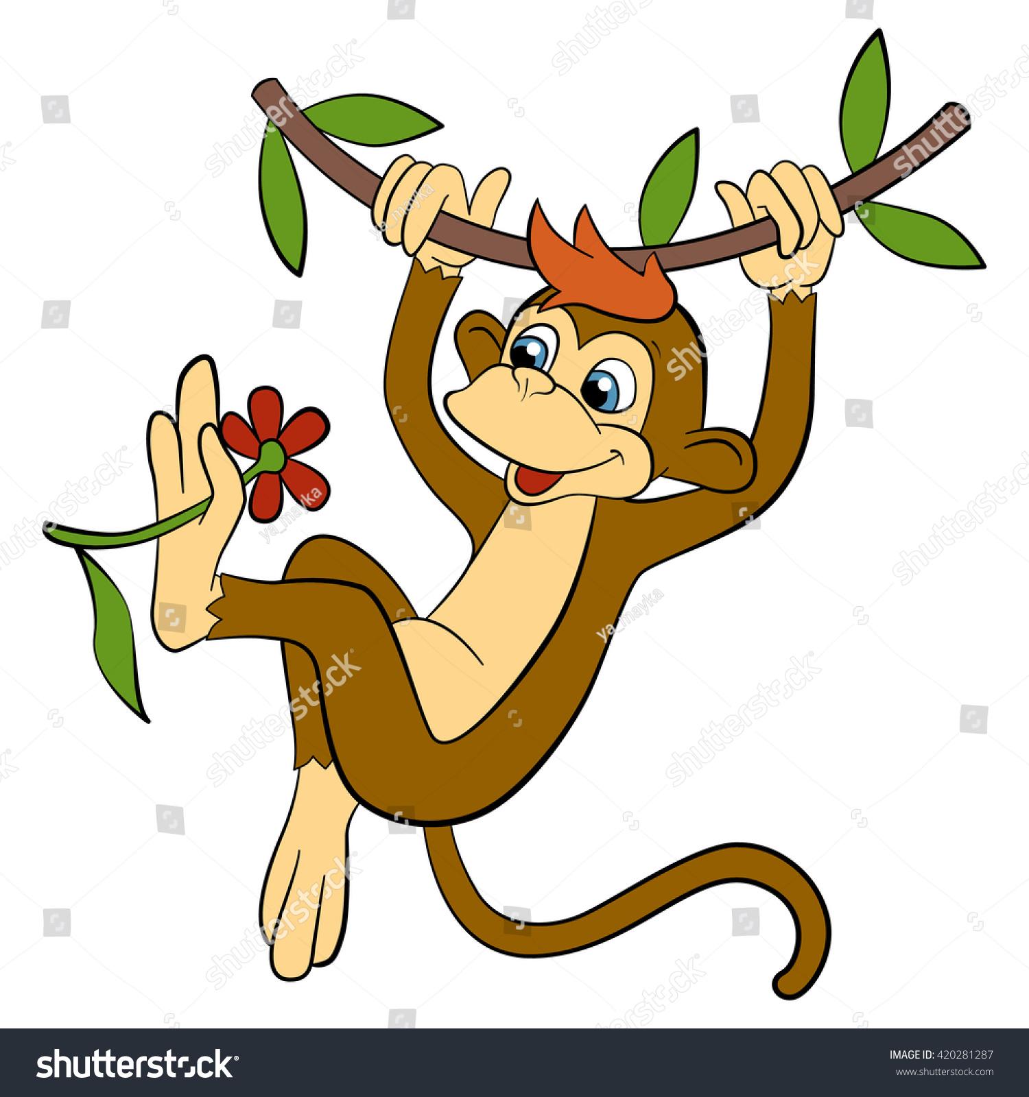cartoon wild animals kids little cute stock vector 420281287
