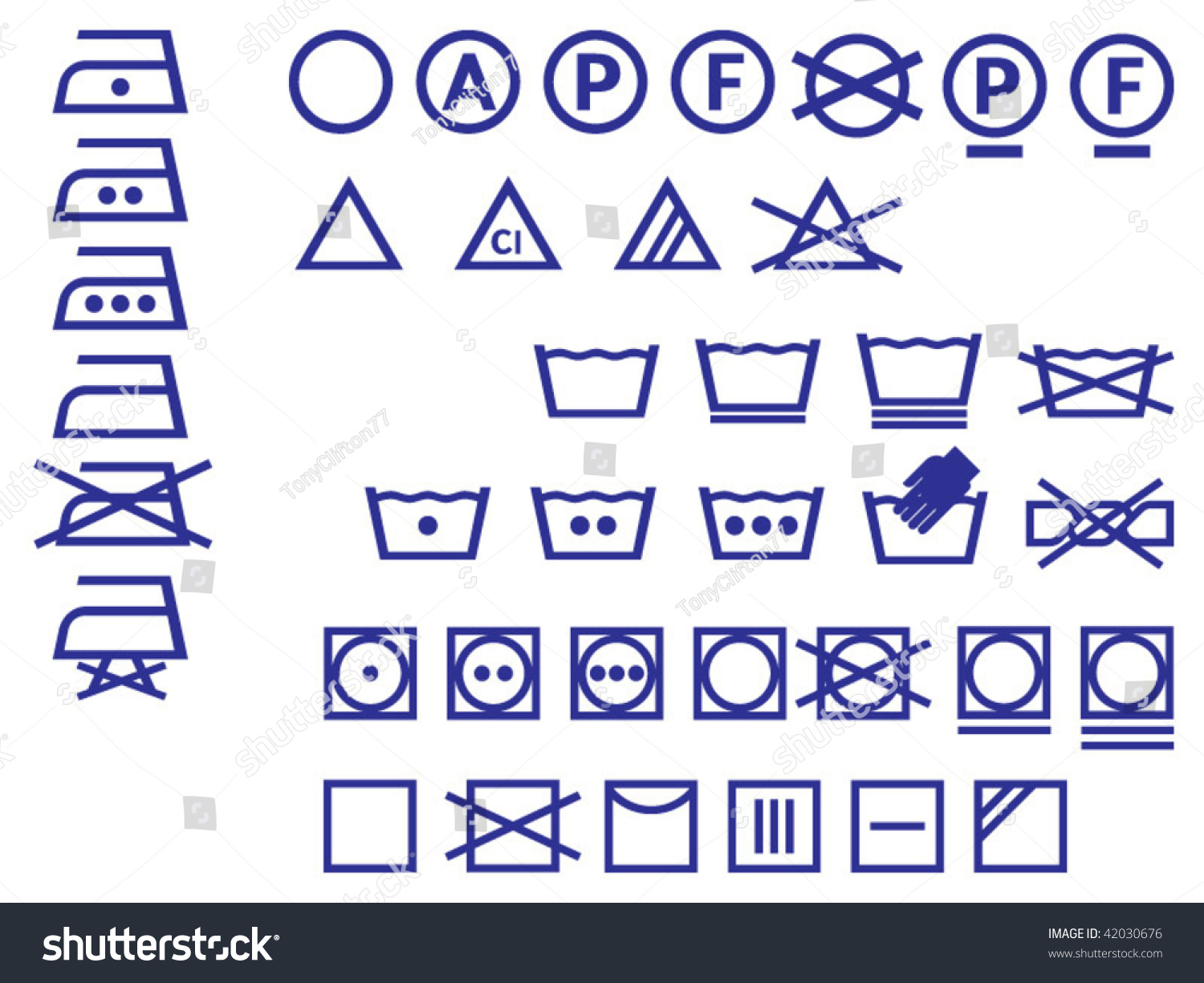 Vector icon set washing symbols stock vector 42030676 shutterstock vector icon set of washing symbols biocorpaavc Image collections