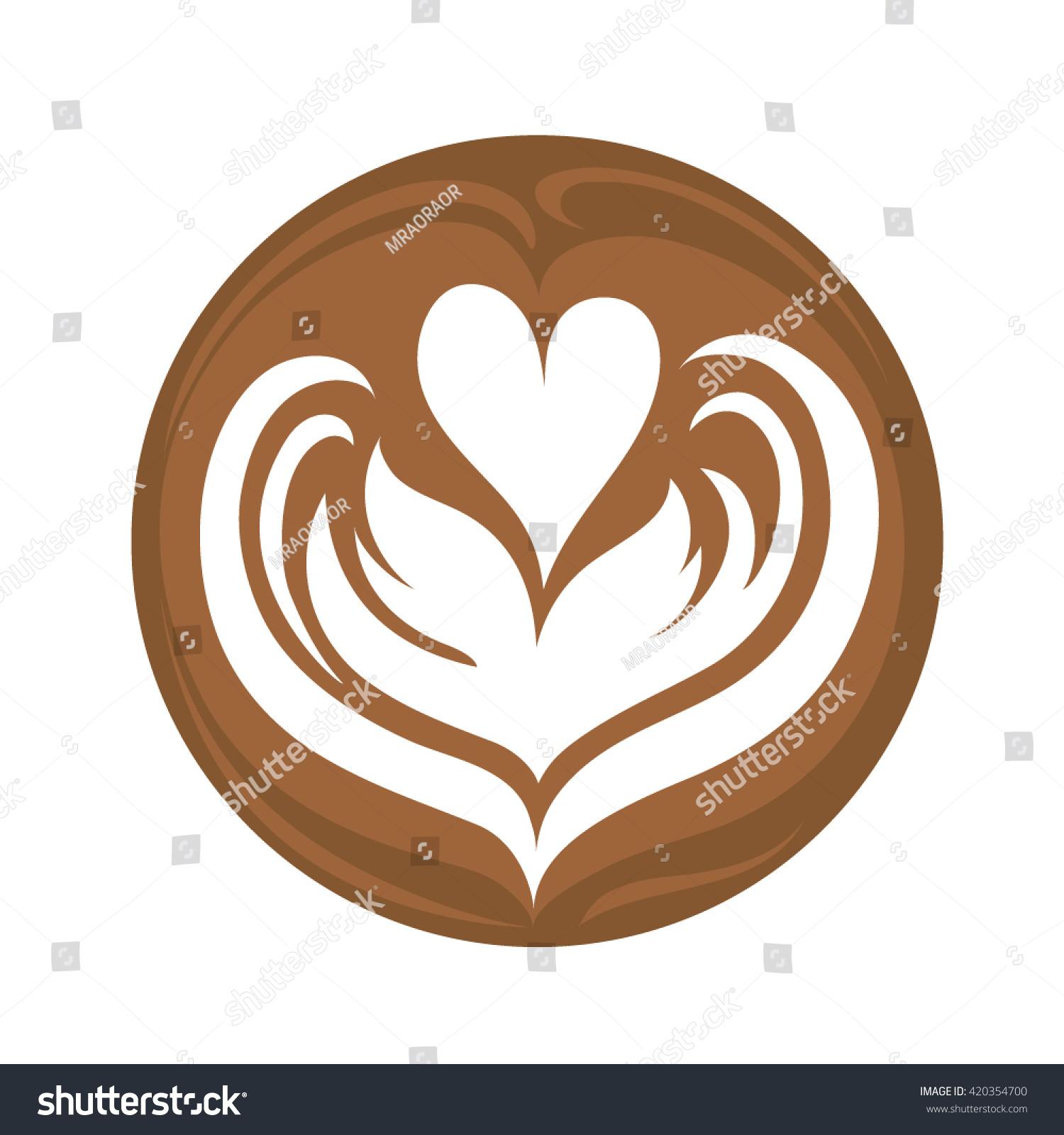 Tulip heart coffee latte art logo 420354700 tulip heart coffee latte art logo 420354700 shutterstock voltagebd Image collections