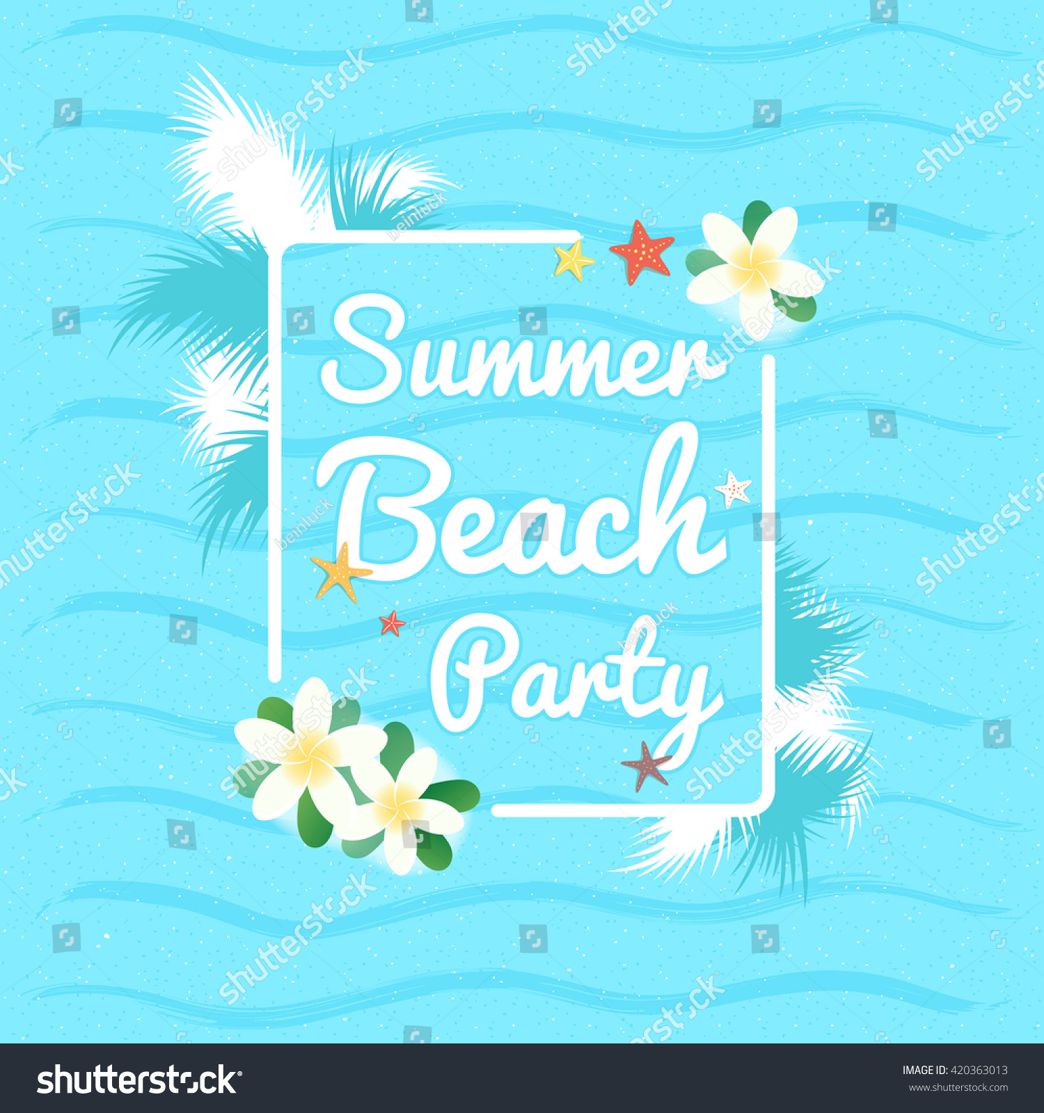Summer Beach Party Summer Vacation Background Stock Vector ...