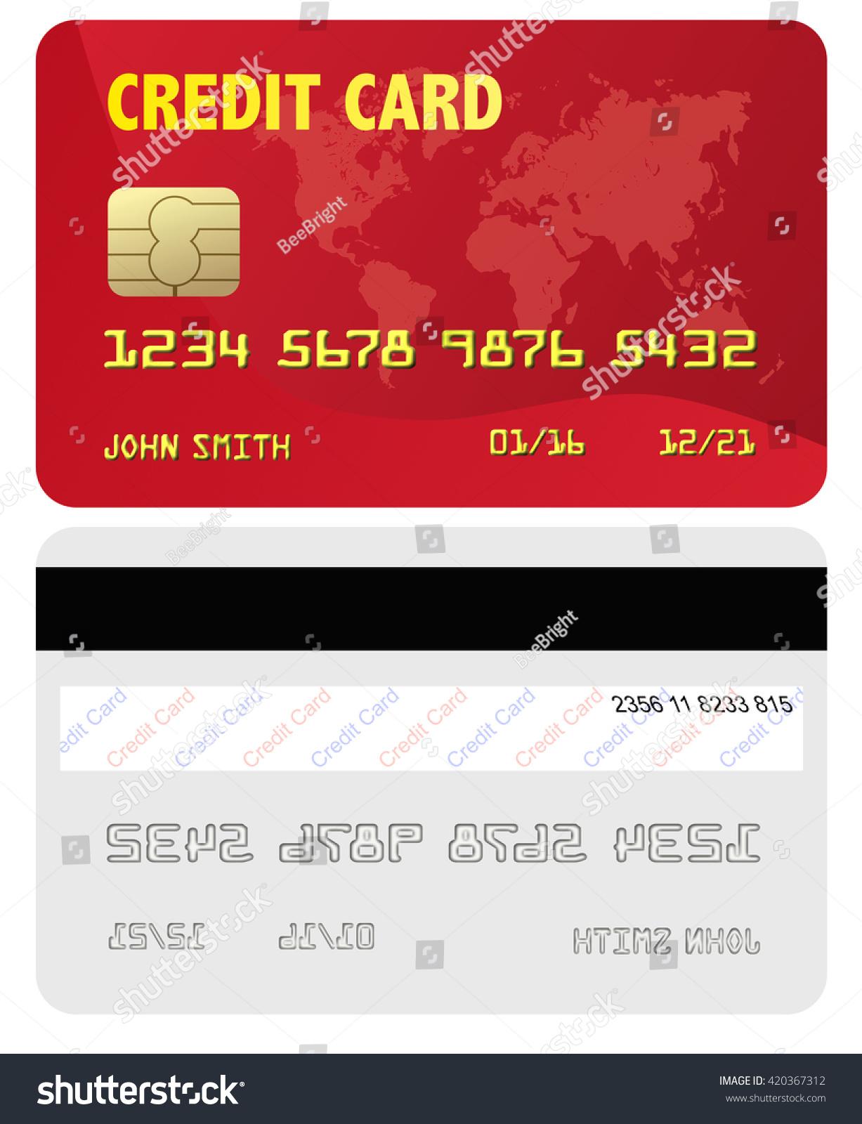 Suchen Sie nach Generic Credit Card Red Front Back-Stockbildern