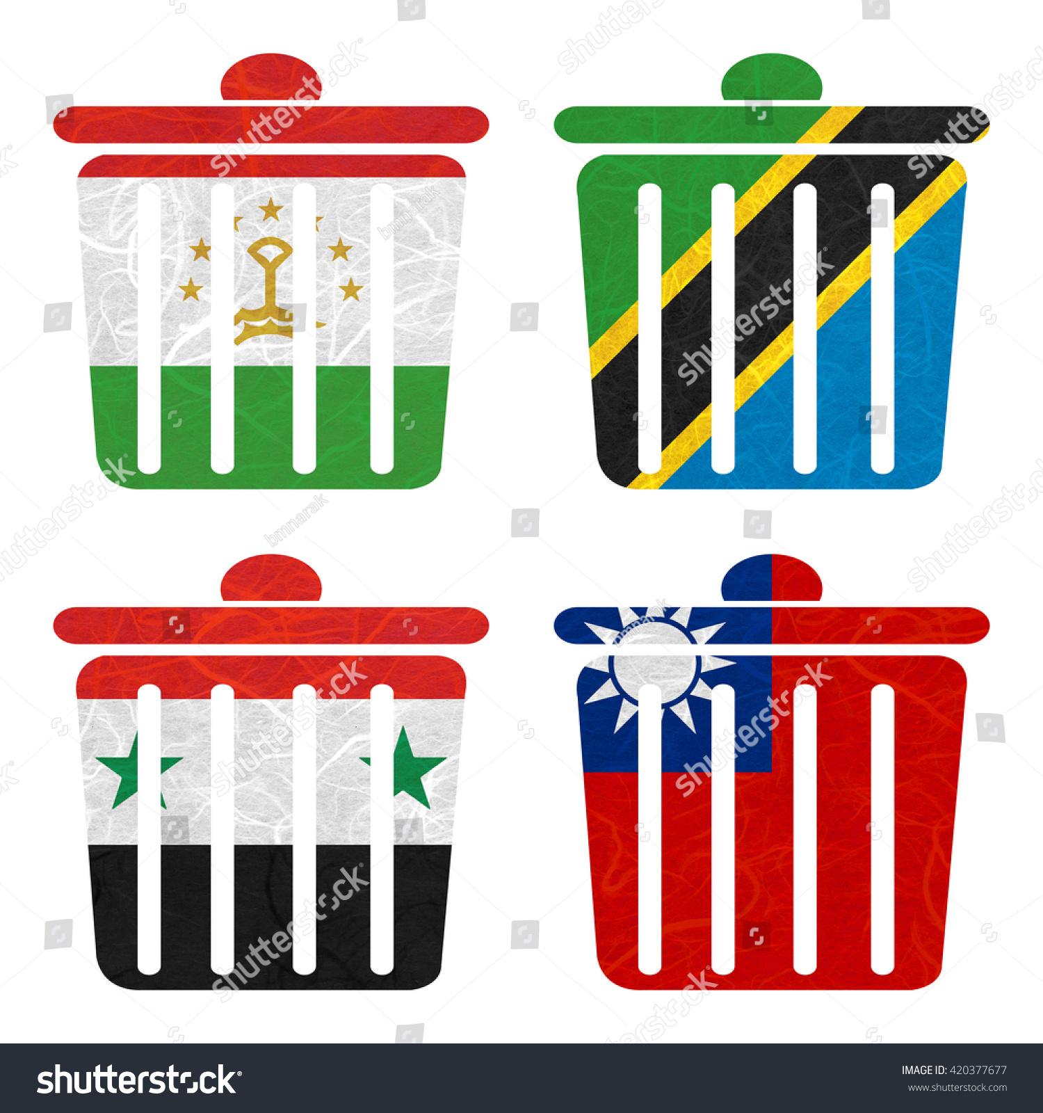 Nation flag bin recycled paper on stock illustration 420377677 bin recycled paper on white background syria taiwan tajikistan buycottarizona Choice Image
