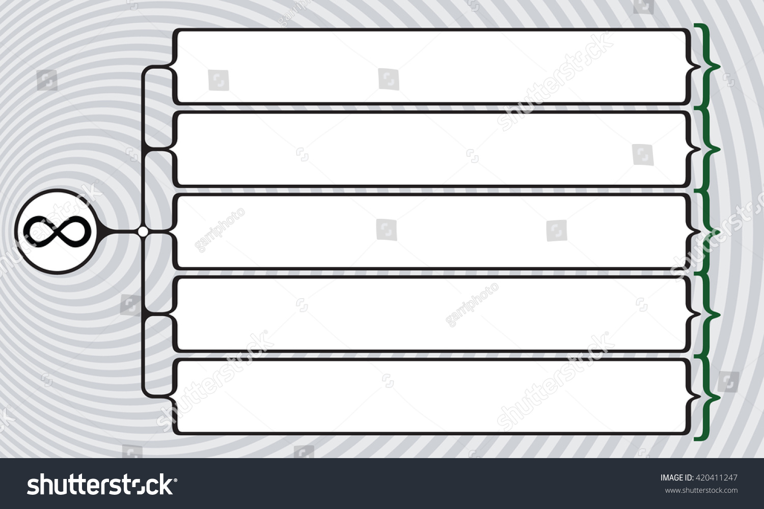 Vector square brackets your text infinity stock vector 420411247 vector square brackets for your text and infinity symbol biocorpaavc