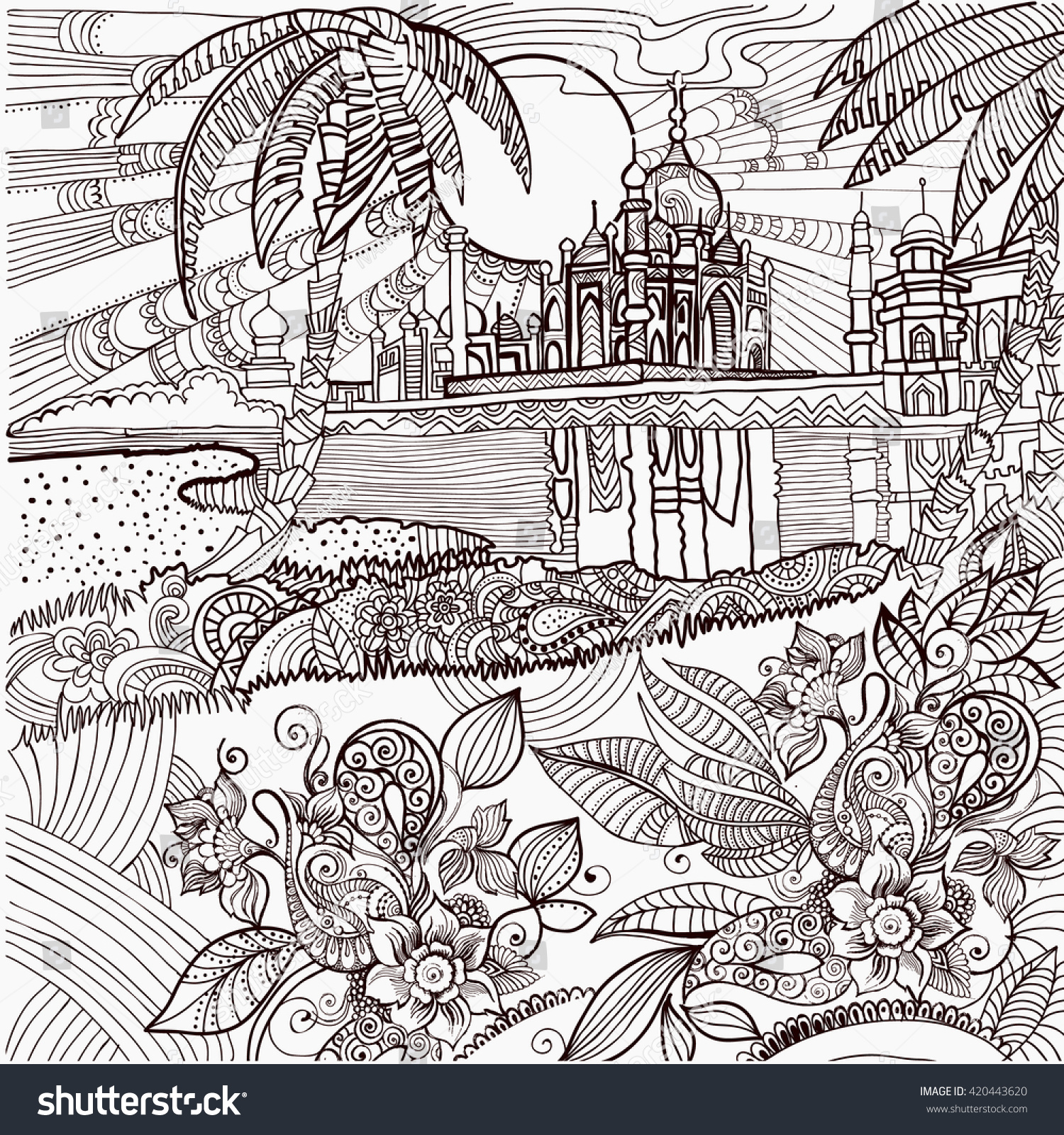 India coloring pages for adults - Coloring Pages India