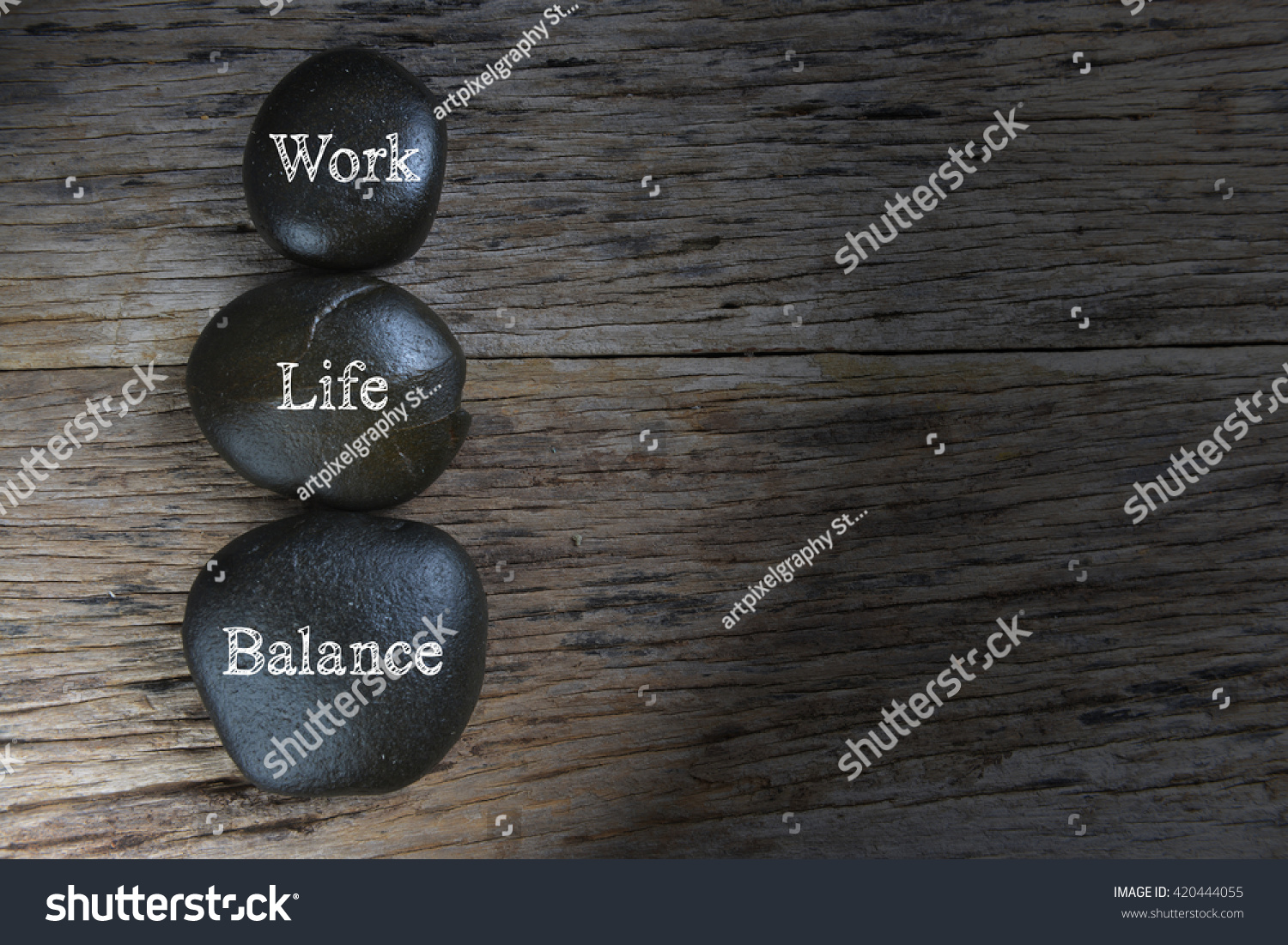 Low light of Work-Life Balance concept. #420444055