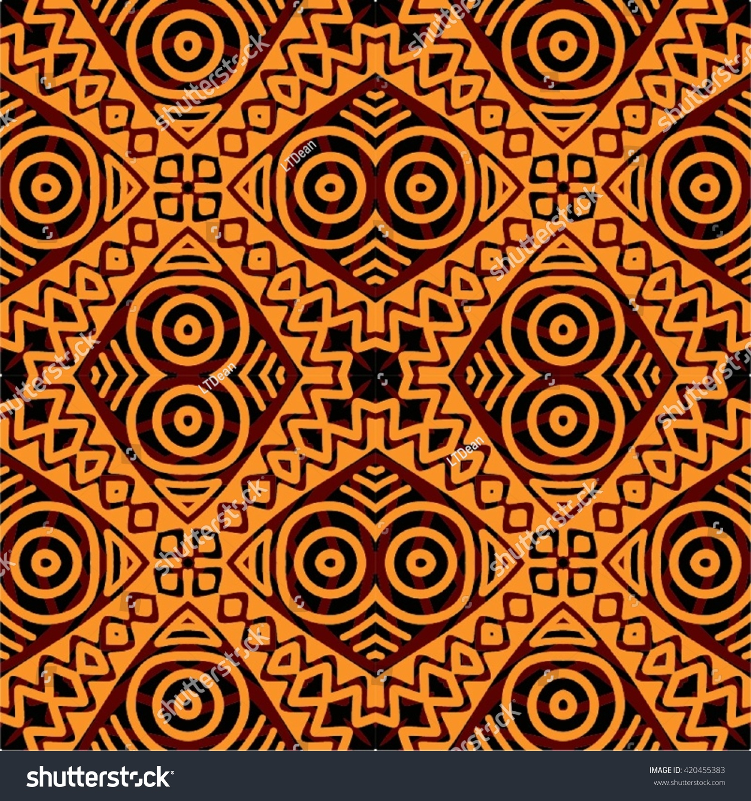 Traditional African Tribal Kitenge Inspired Seamless Stock ... Traditional African Patterns