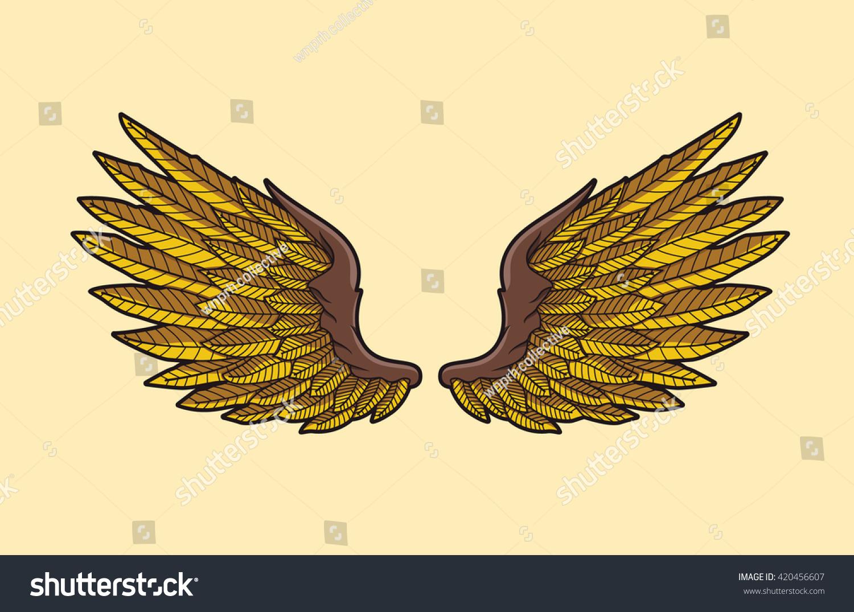 eagle wings vector illustration stock vector royalty free 420456607 https www shutterstock com image vector eagle wings vector illustration 420456607