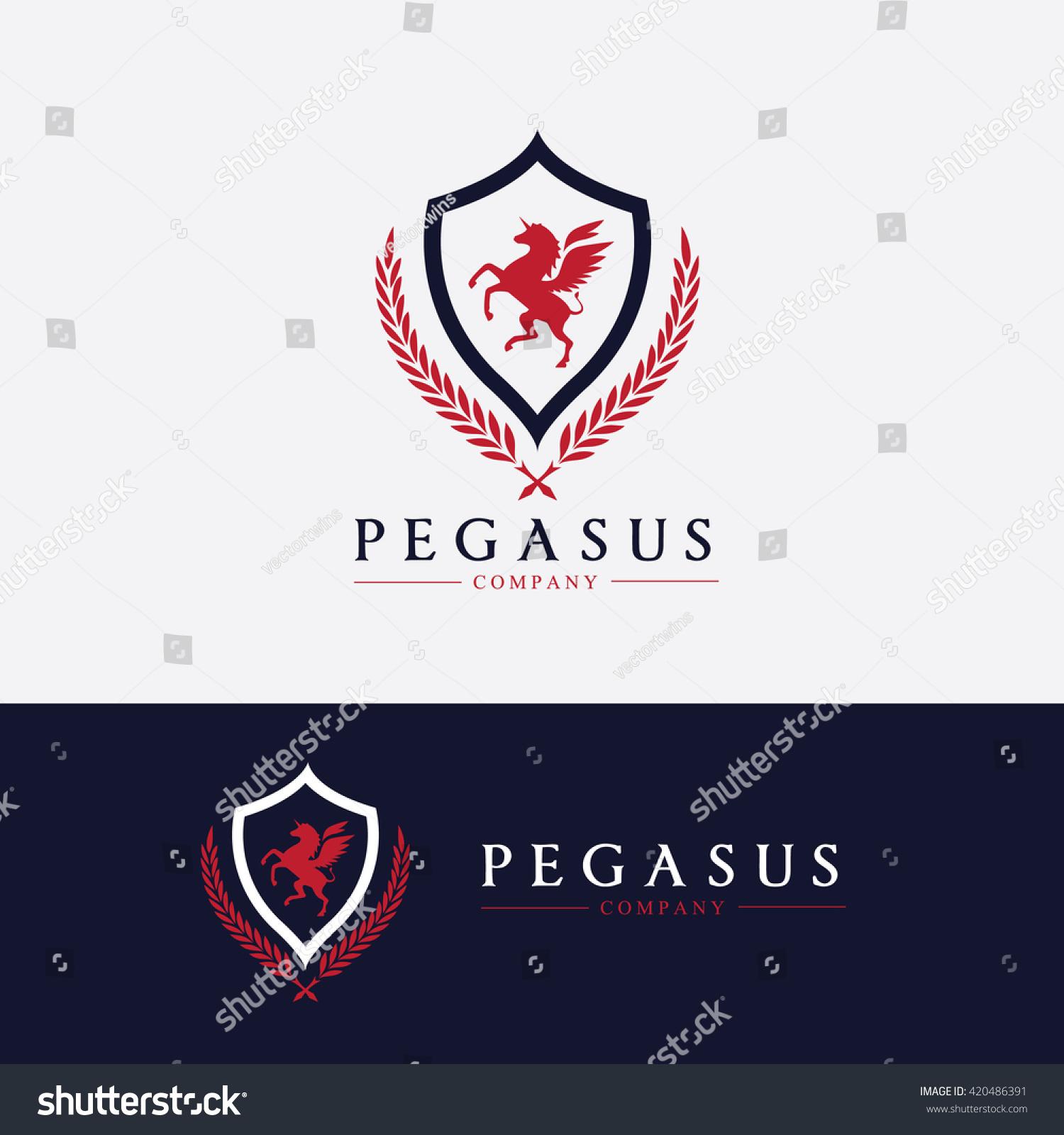 Pegasus Logoluxury Brand Logo Design Vector Stock Vector 420486391