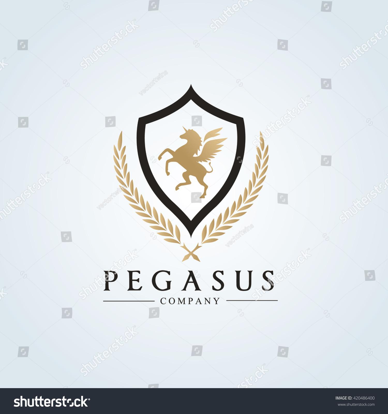 Pegasus Logoluxury Brand Logo Design Vector Stock Vector 420486400