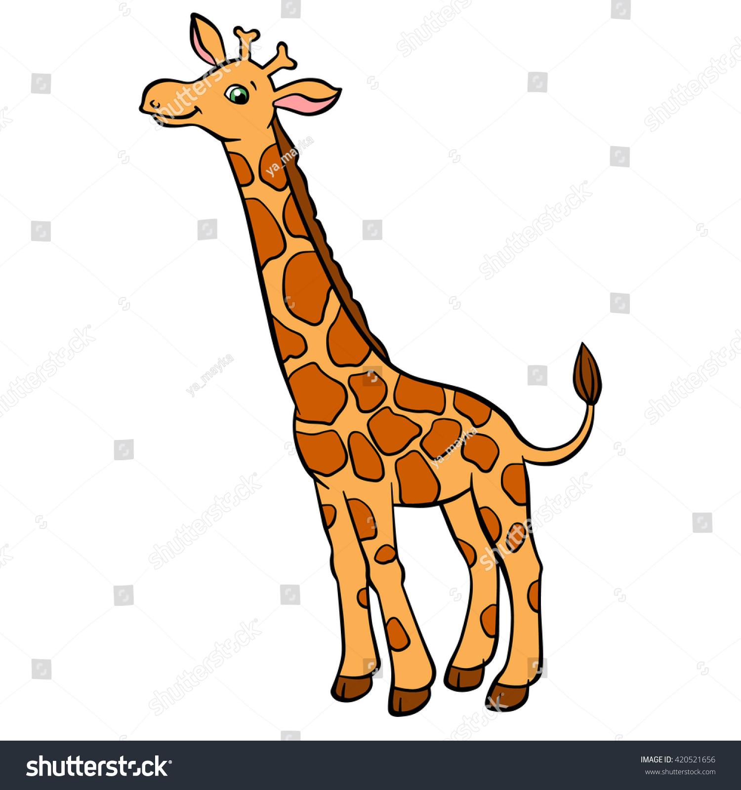 Cartoon giraffe head and neck - photo#23