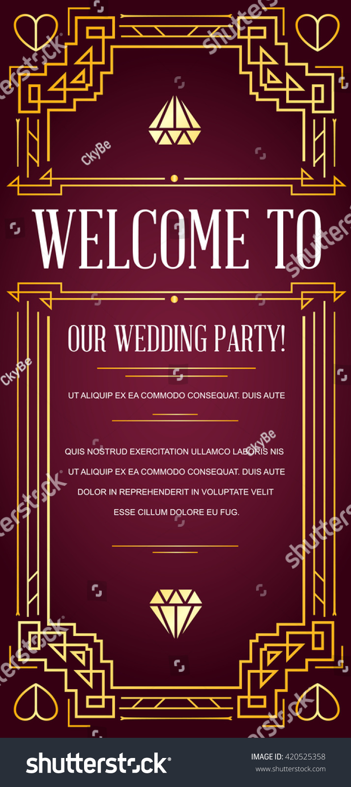 Great Quality Style Invitation Art Deco Stock Vector (Royalty Free ...
