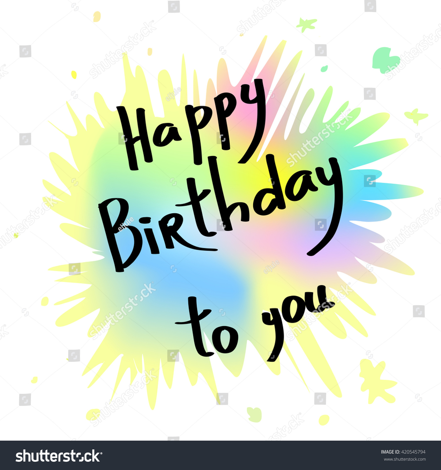 Happy birthday greeting card handwritten anniversary stock vector happy birthday greeting card handwritten anniversary banner happy birthday to you kristyandbryce Gallery