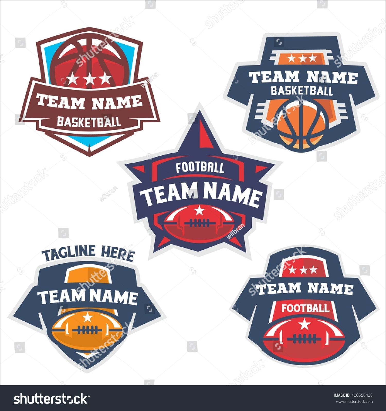 set football basketball vector football logo stock vector 420550438 shutterstock. Black Bedroom Furniture Sets. Home Design Ideas
