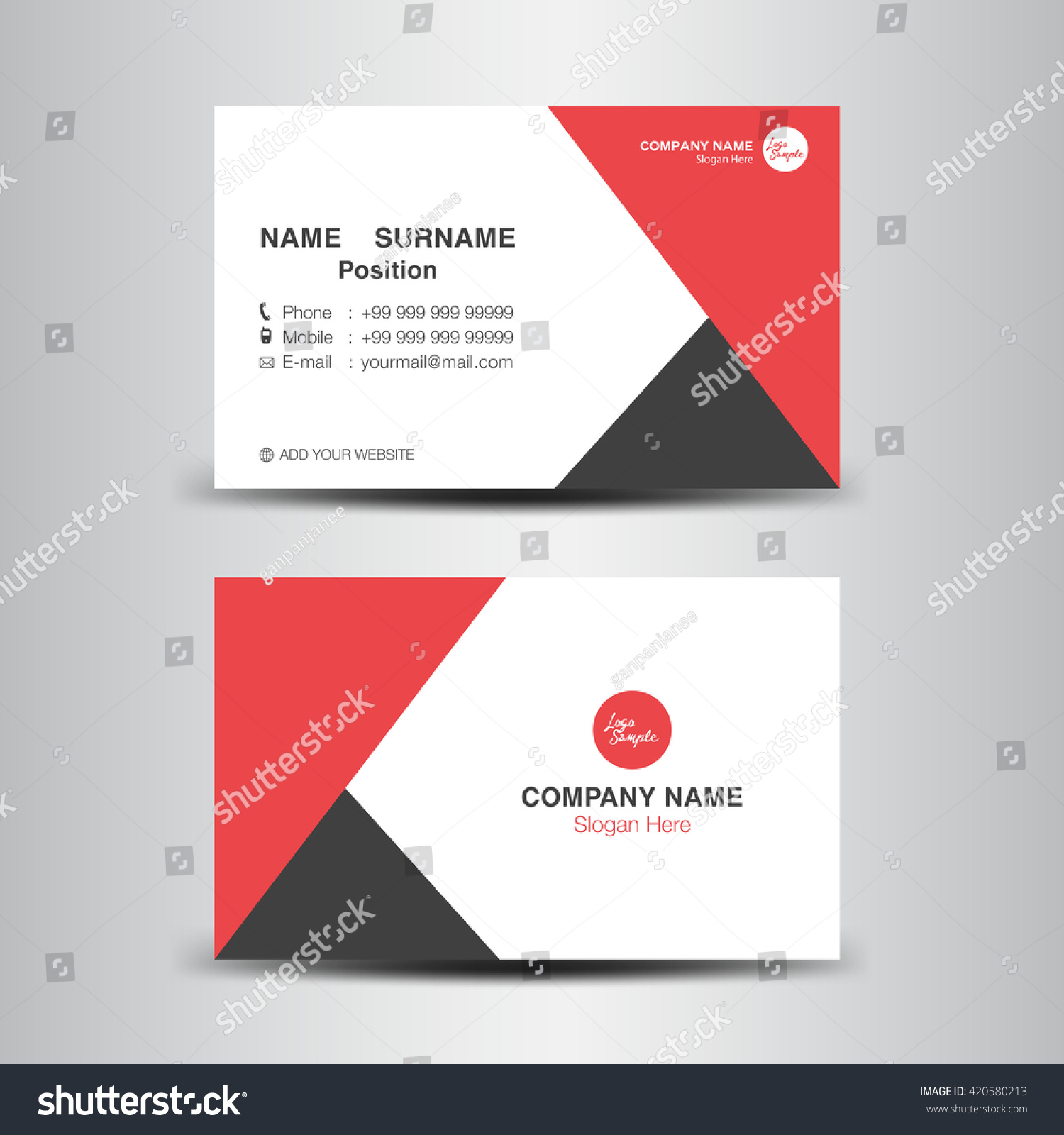 Red business card vector backgroundflyer designpolygon stock red business card vector backgroundflyer designpolygon backgroundname card template magicingreecefo Images