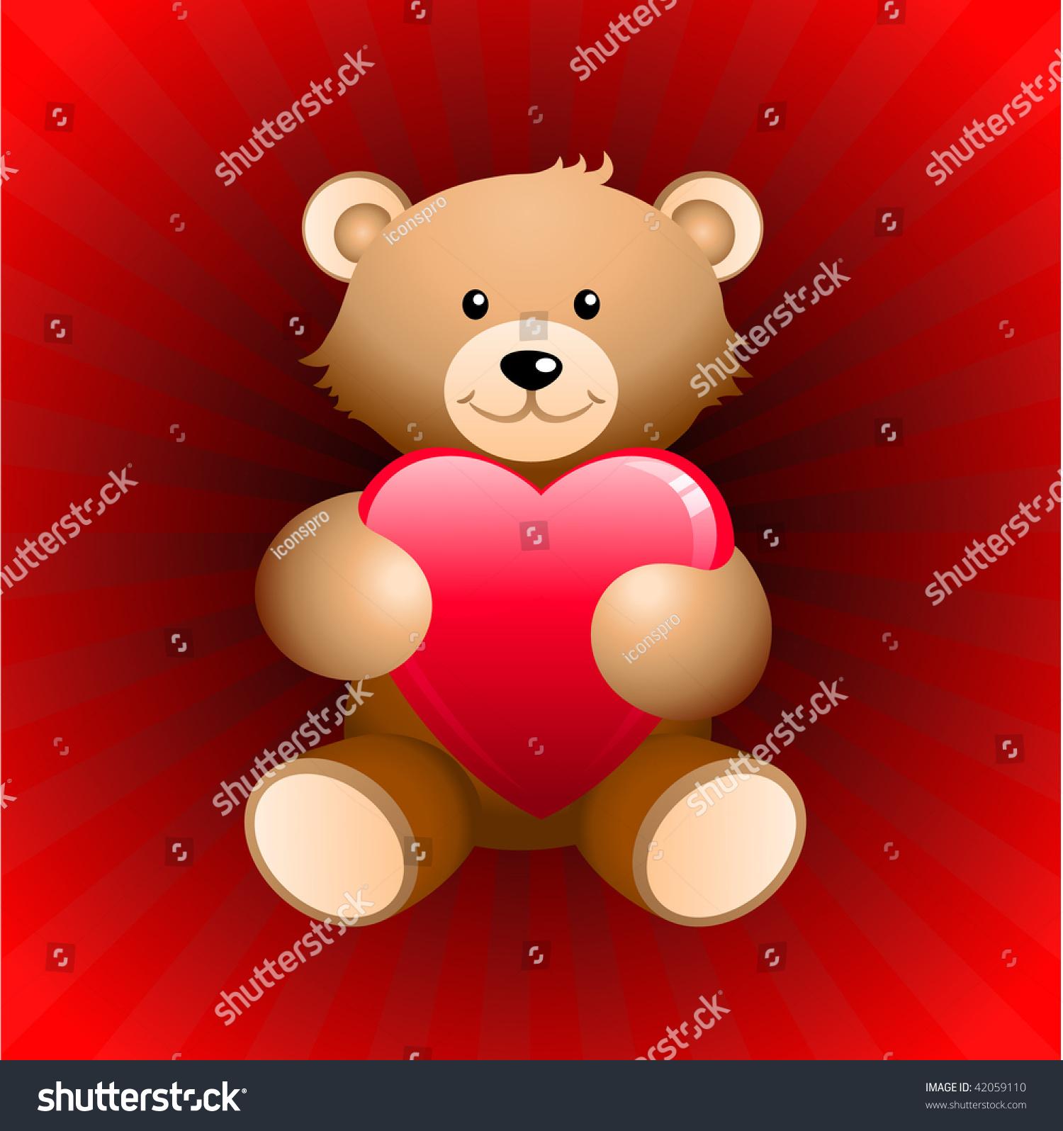 Teddy Bear Valentines Day Background   Bear Valentine