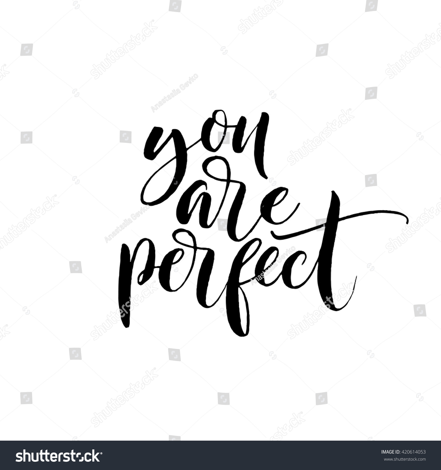 You Perfect Card Hand Drawn Lovely Stock Vector 420614053