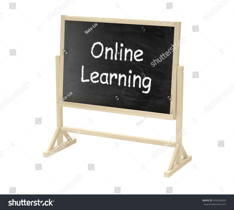 Online Learning Concept Blackboard Chalkboard Isolated