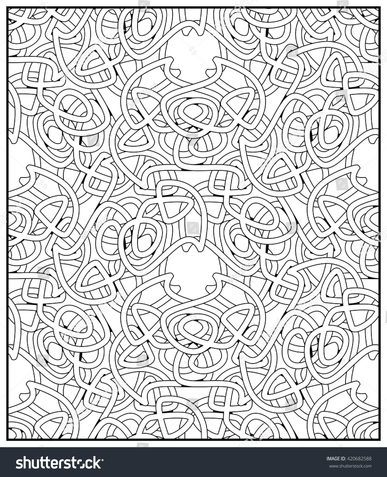 Ornamental Celtic Design Adult Coloring Book Stock Vector Royalty